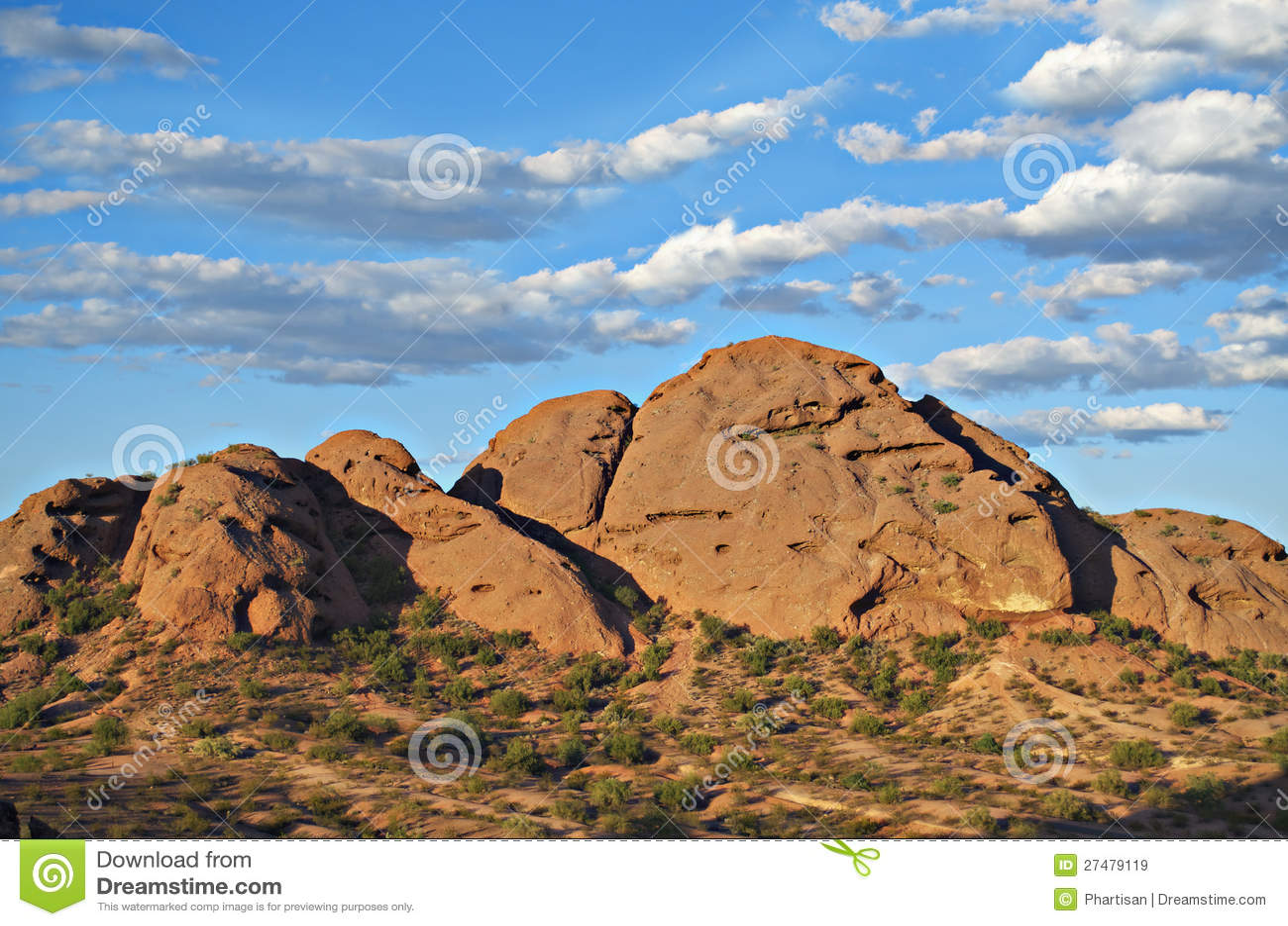 Papago Park Recreation Park In Phoenix Az Stock Image - Image of ...