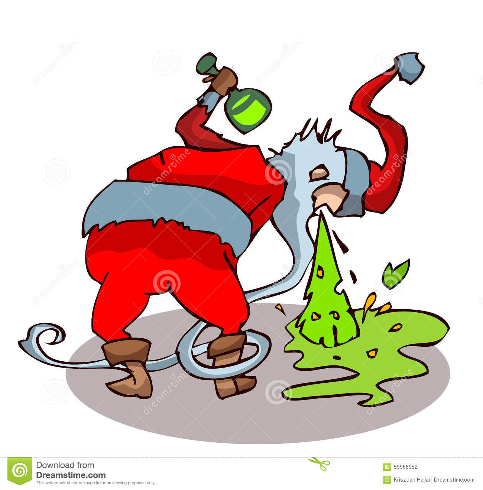 Papai Noel bêbado que joga acima