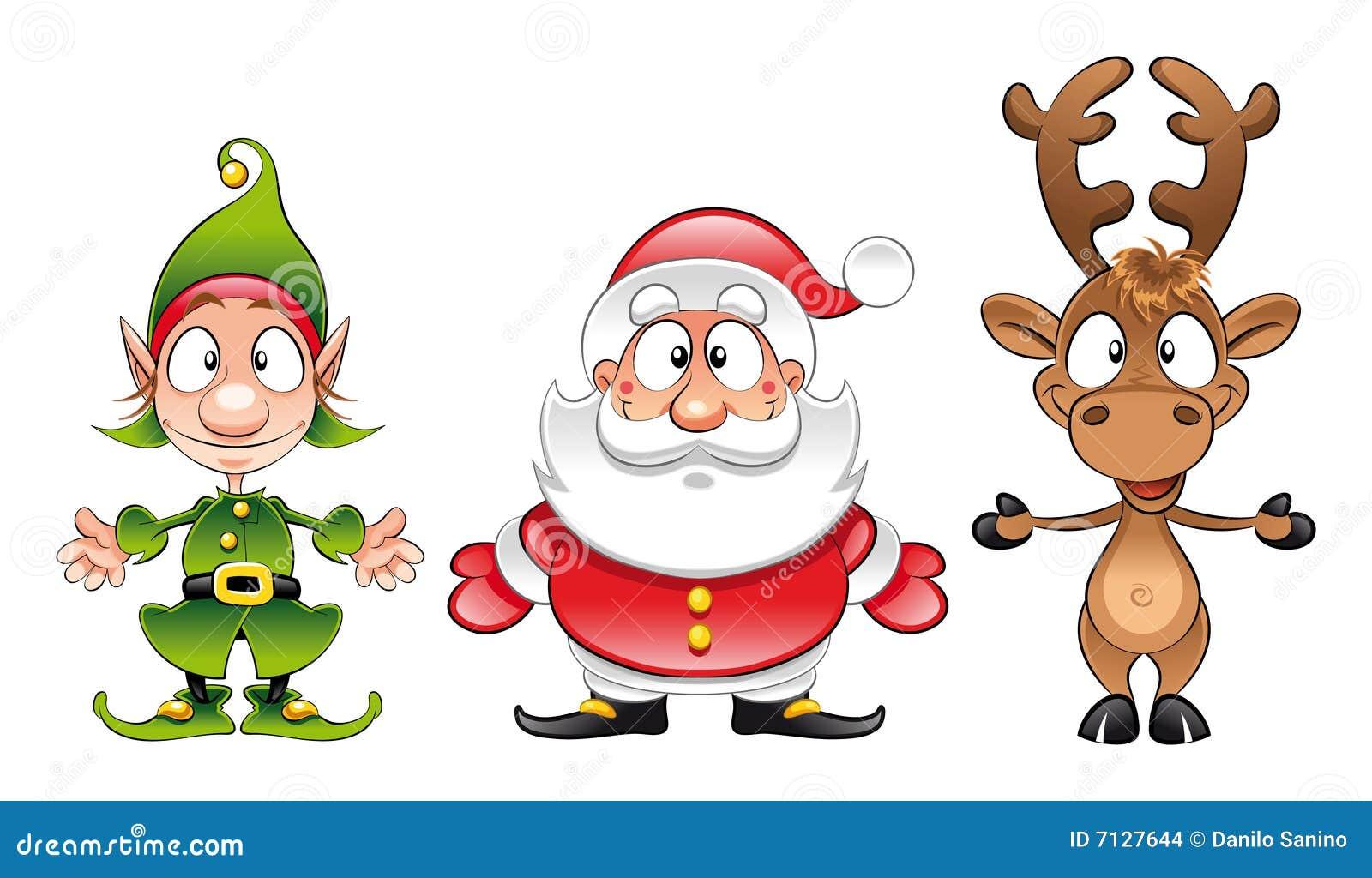 Papai Noel, duende, Rudolph
