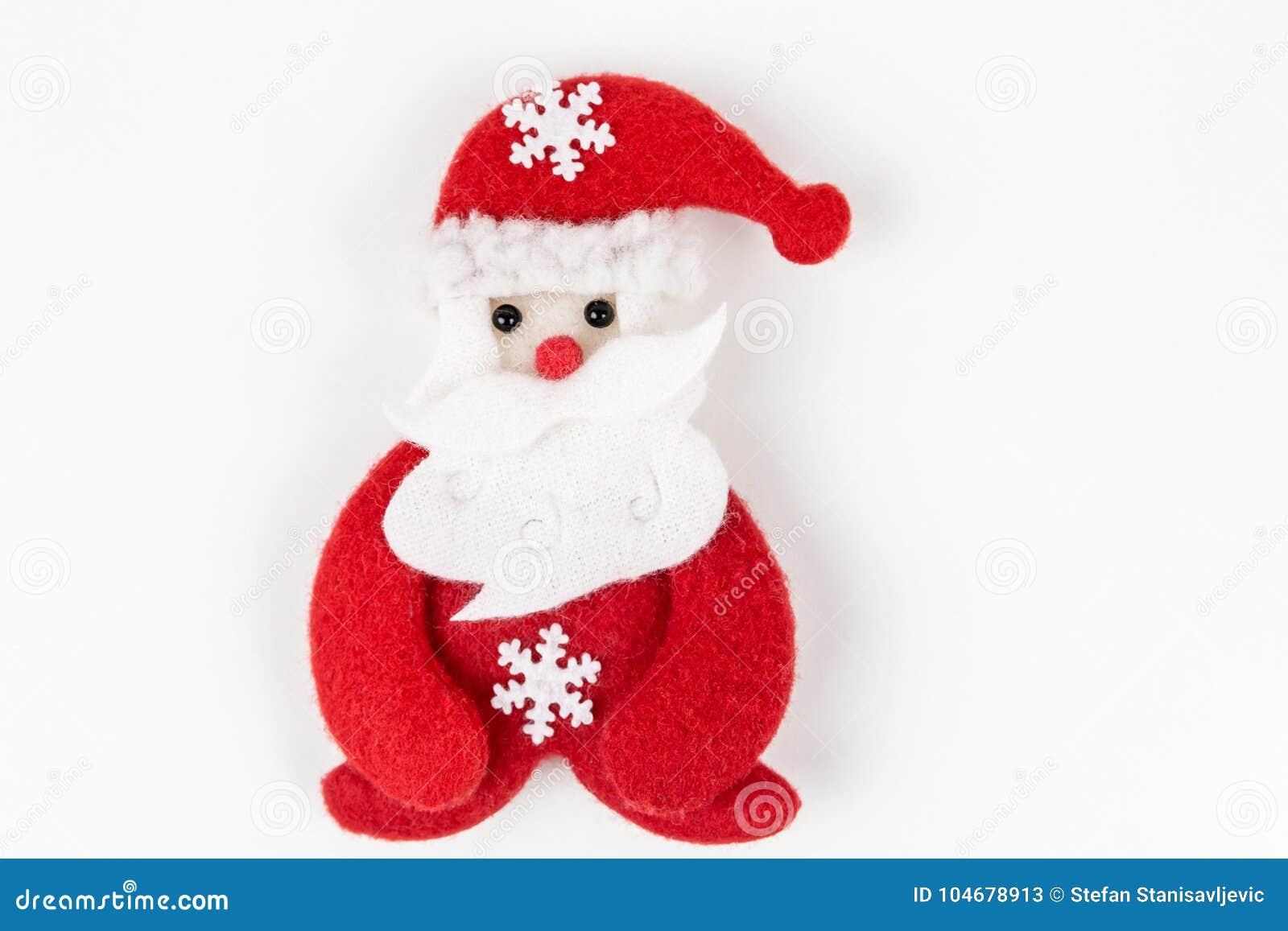 Papai Noel no fundo branco
