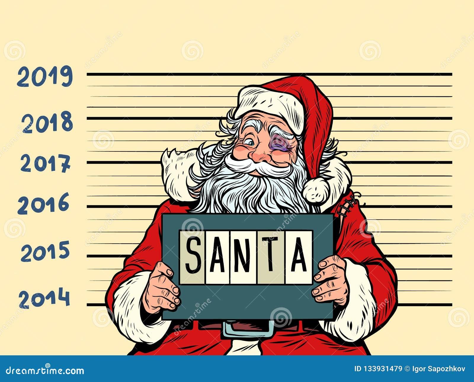 Papai Noel ruim Prendido 2019 anos novos felizes