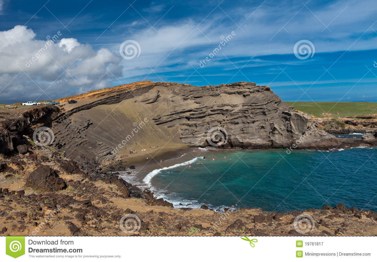 Papakolea Beach Royalty Free Stock Photography - Image: 19761817