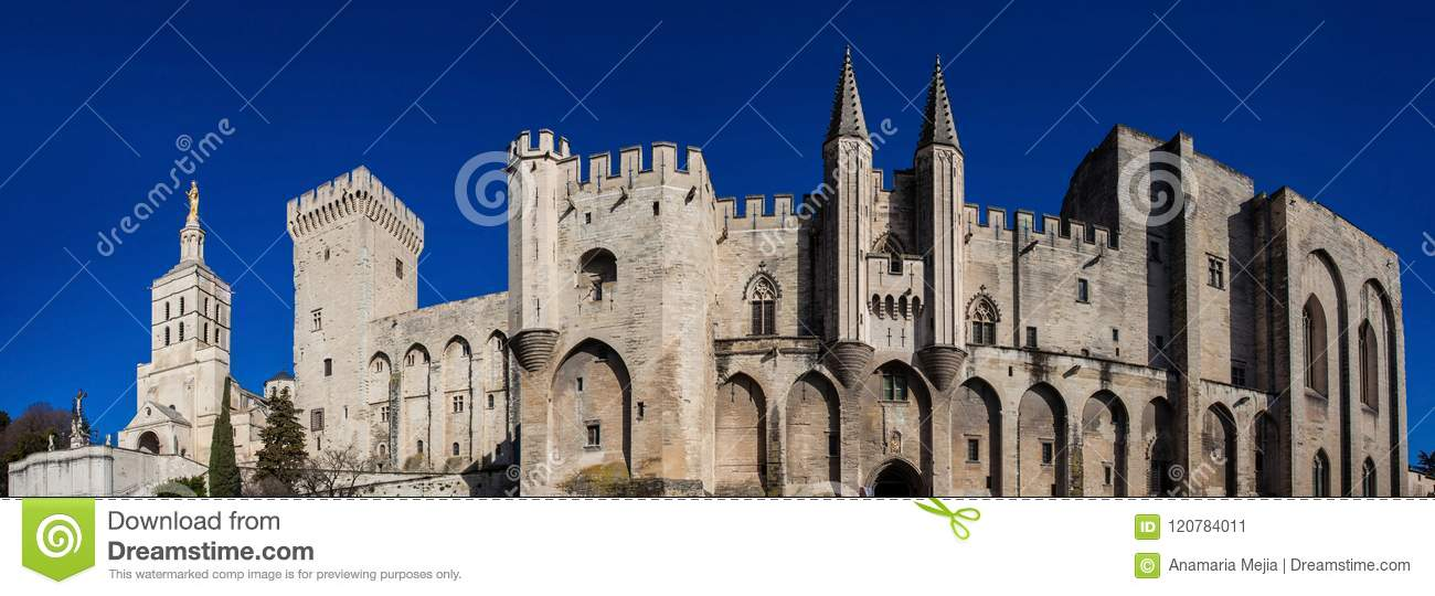 The Papal palace at Avignon France