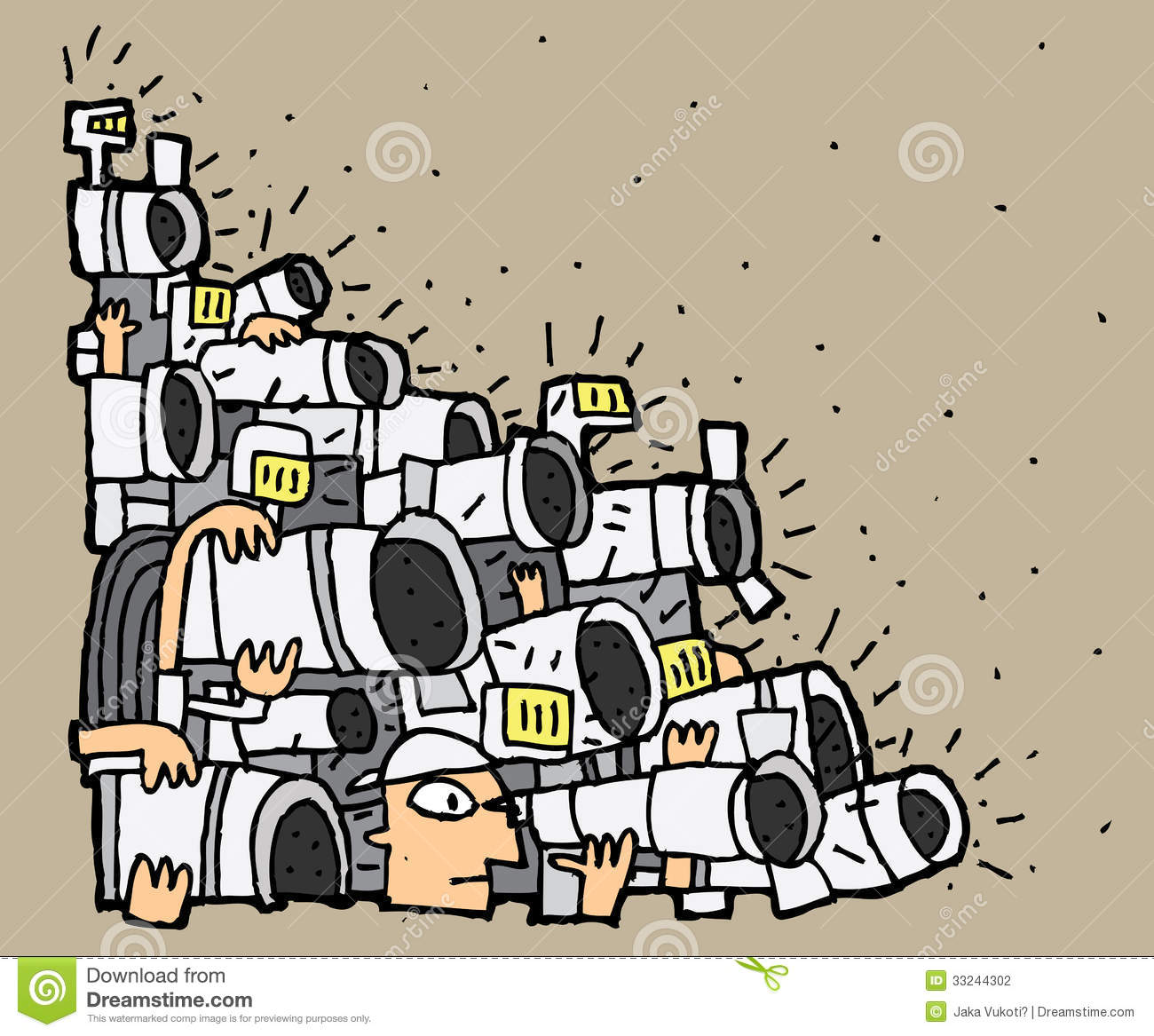 Paparazzi cartoon no 2 stock photography image 33244302 for Paparazzi clipart