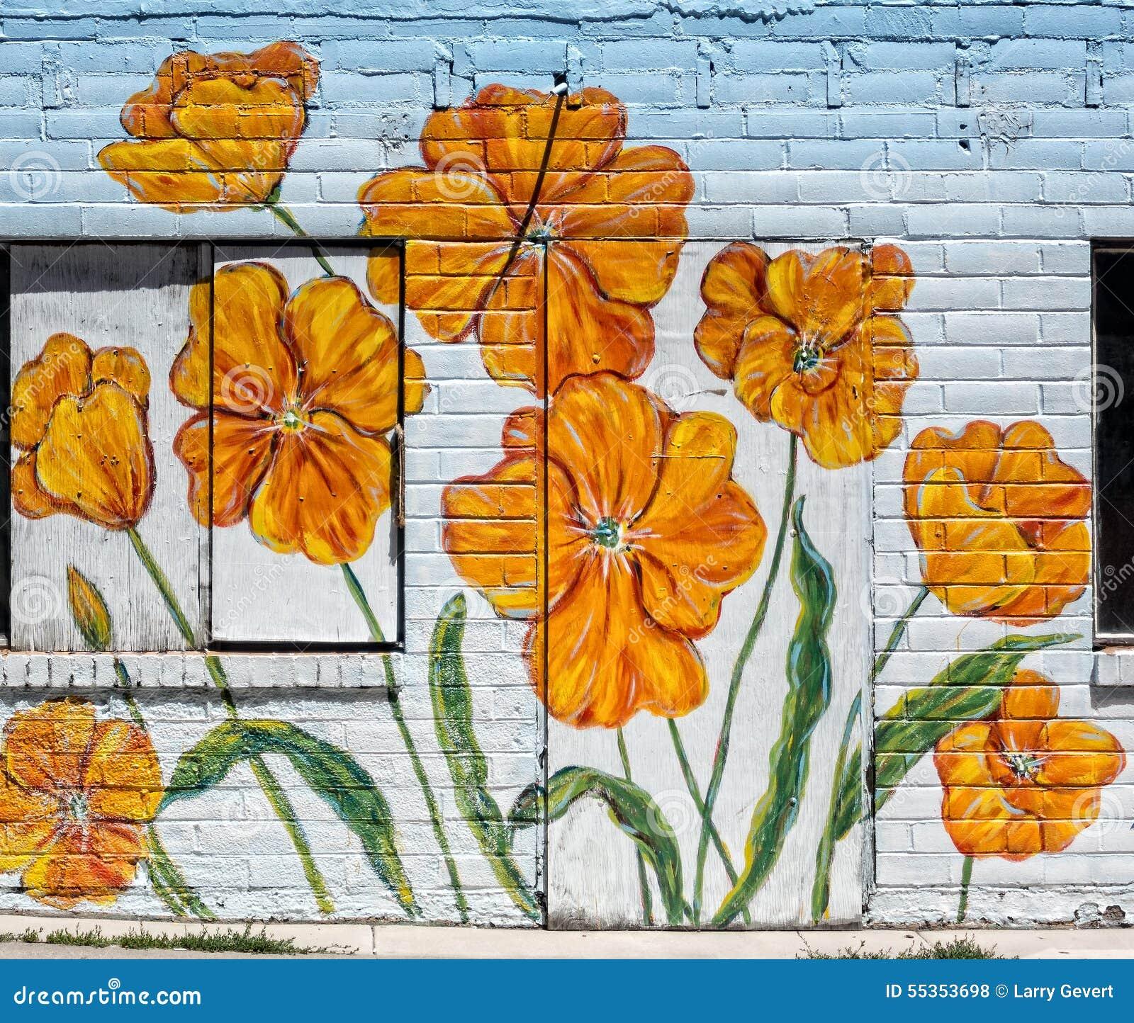 Papaveri su una parete