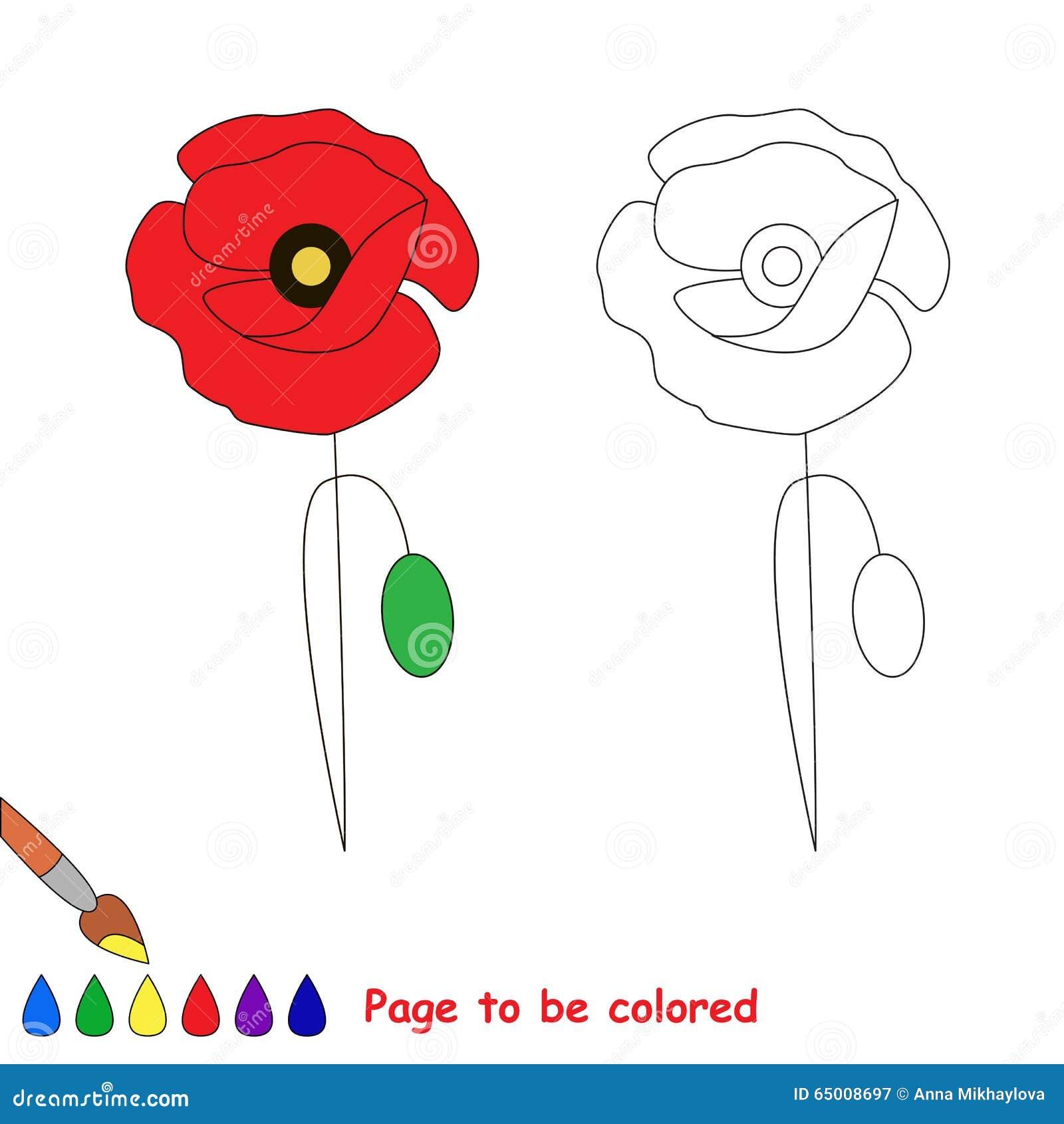 Papavero Nel Fumetto Di Vettore Da Colorare Illustrazione Vettoriale Illustrazione Di Interessare Quiz 65008697