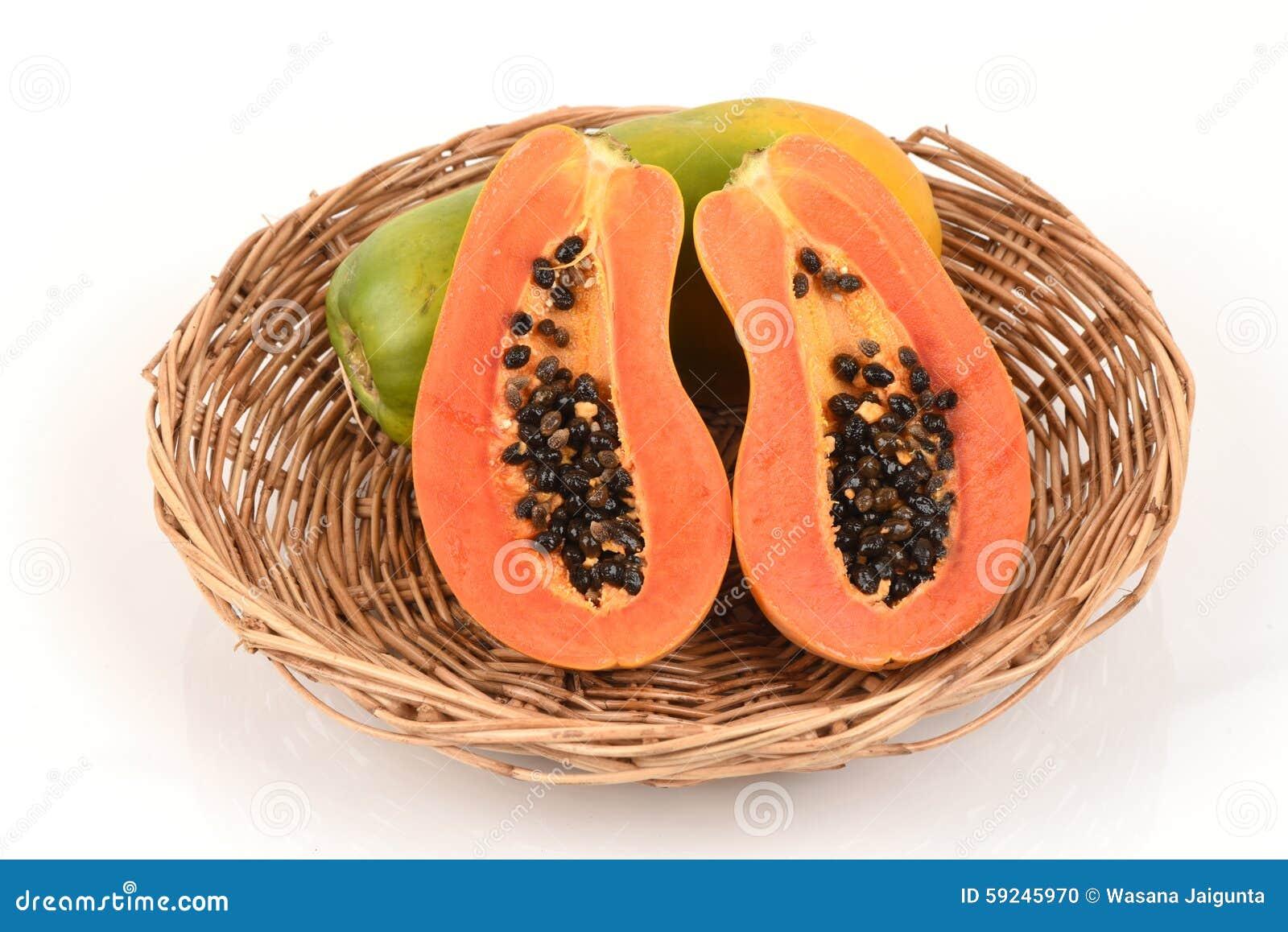 Download Papaya foto de archivo. Imagen de exótico, postre, características - 59245970