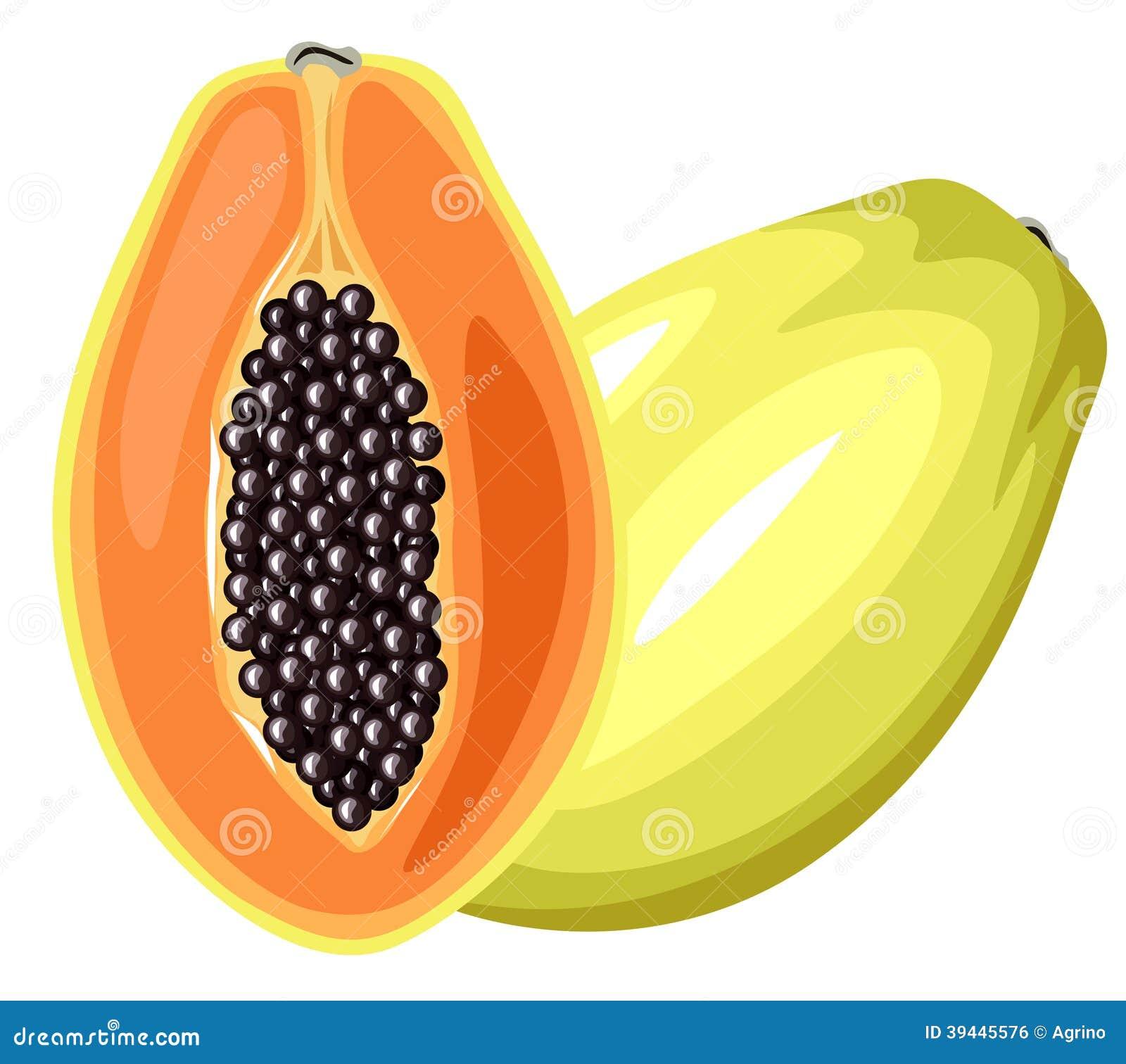 Papaya Fruit Stock Vector Image 39445576
