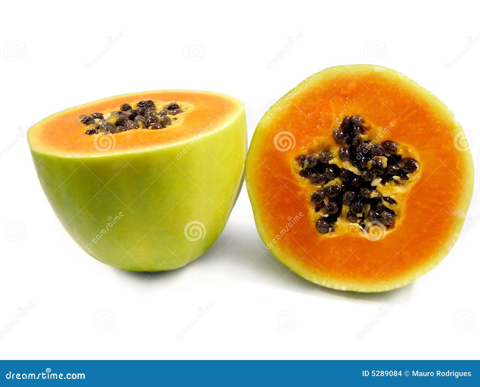 Papaya Fruit Cut In Half Stock Images - Image: 5289084