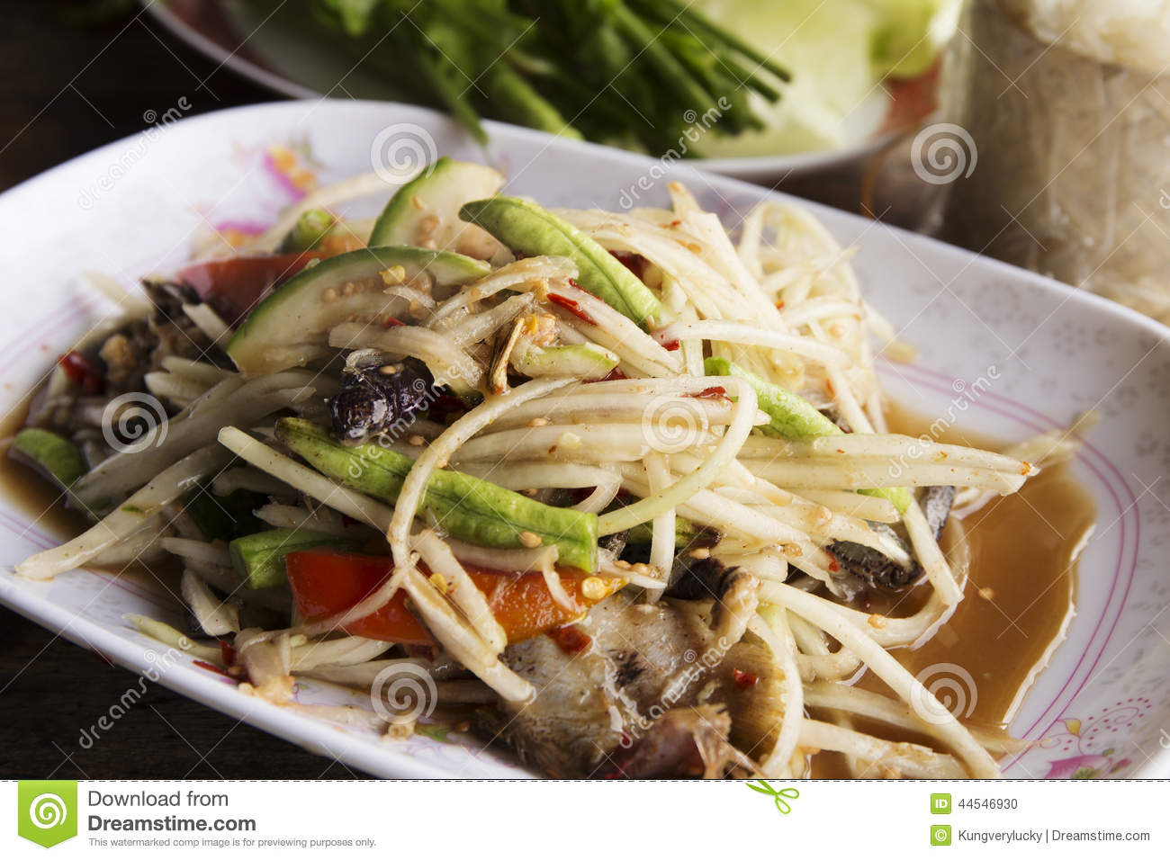Green Papaya Salad  Som Tum สมตำ  ThaiTablecom