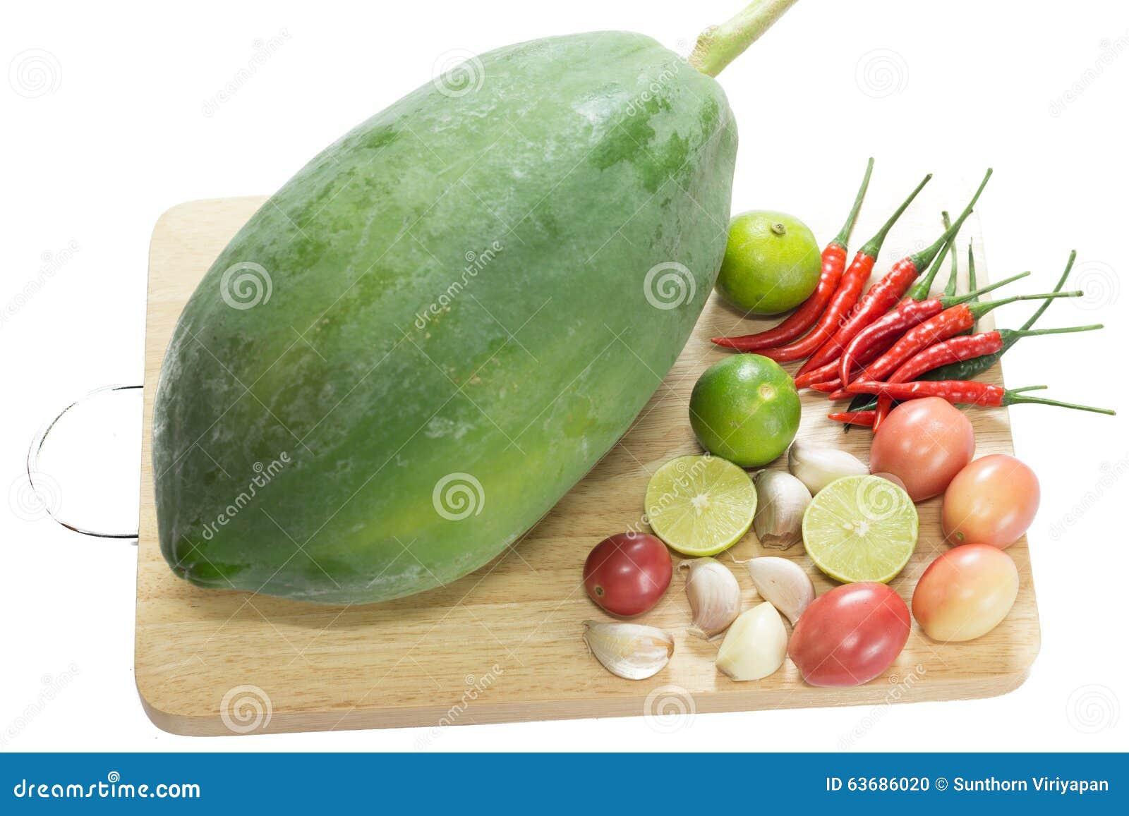 how to cook raw papaya