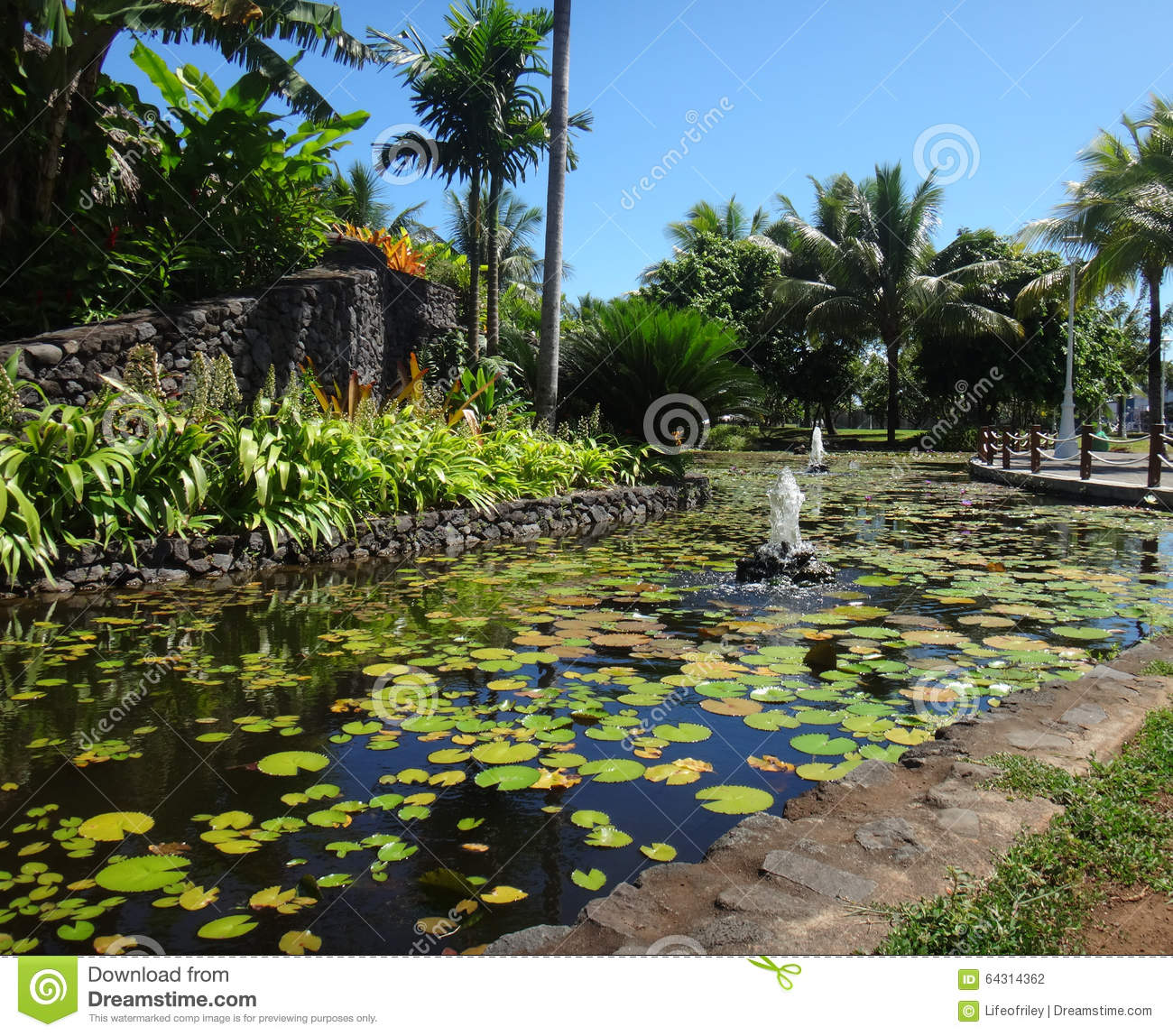 Papeete tahiti stock photo image 64314362 for Ornamental fish garden ponds