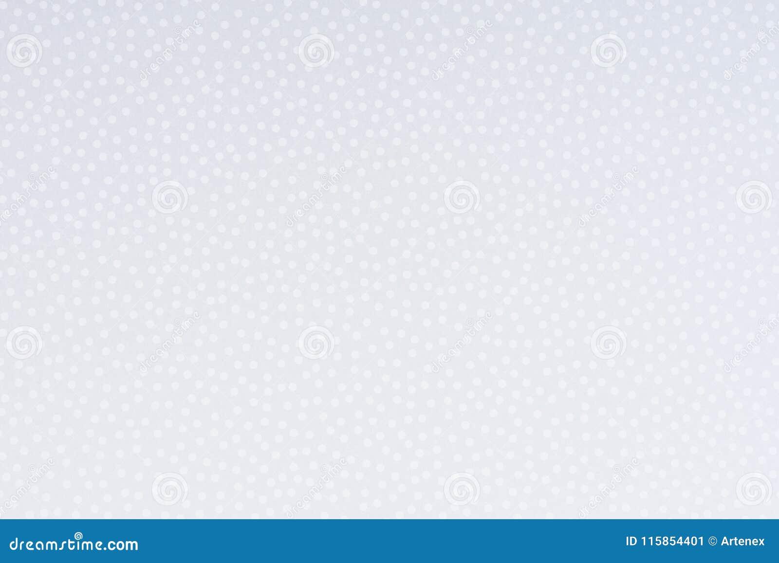 Papel brilhante com pontos e fundo brancos da textura dos pontos
