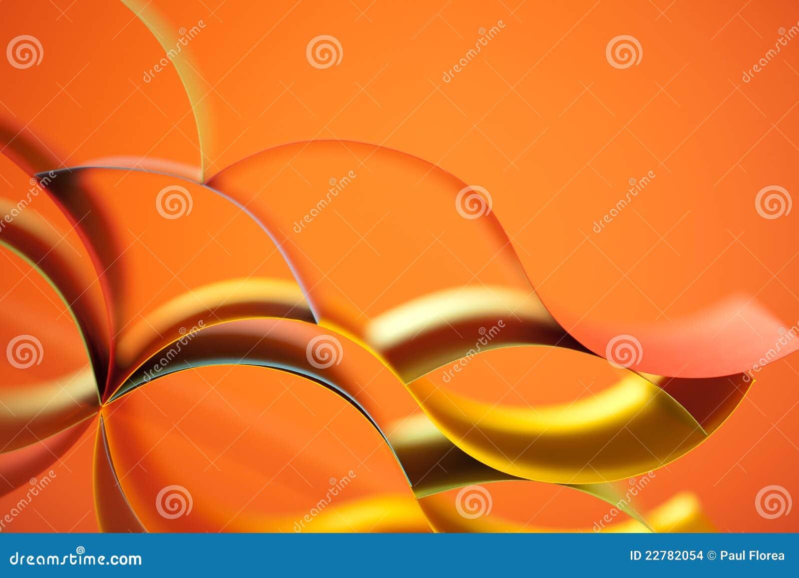 Papel colorido do sumário no fundo alaranjado