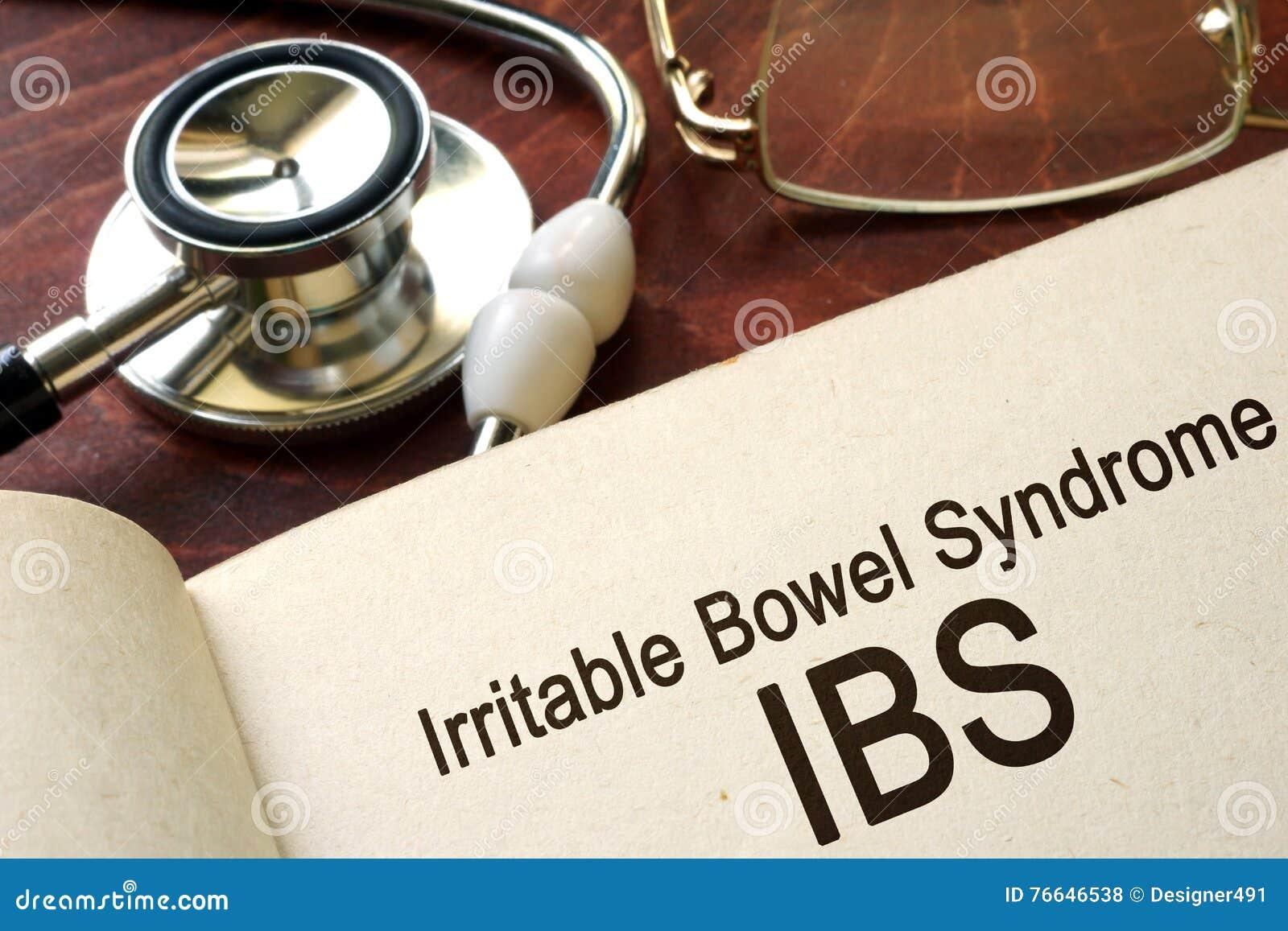Papel con síndrome de intestino irritable de las palabras y x28; IBS& x29;