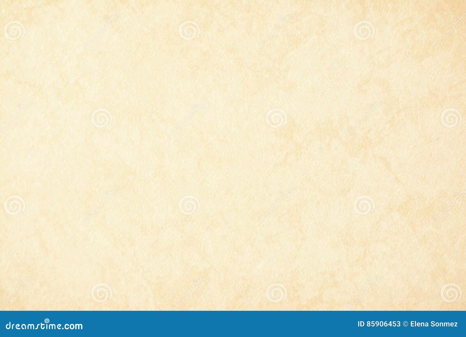 Papel de fundo da textura do ouro no creme amarelo do vintage ou na cor bege, papel de pergaminho, inclinação pastel abstrato do