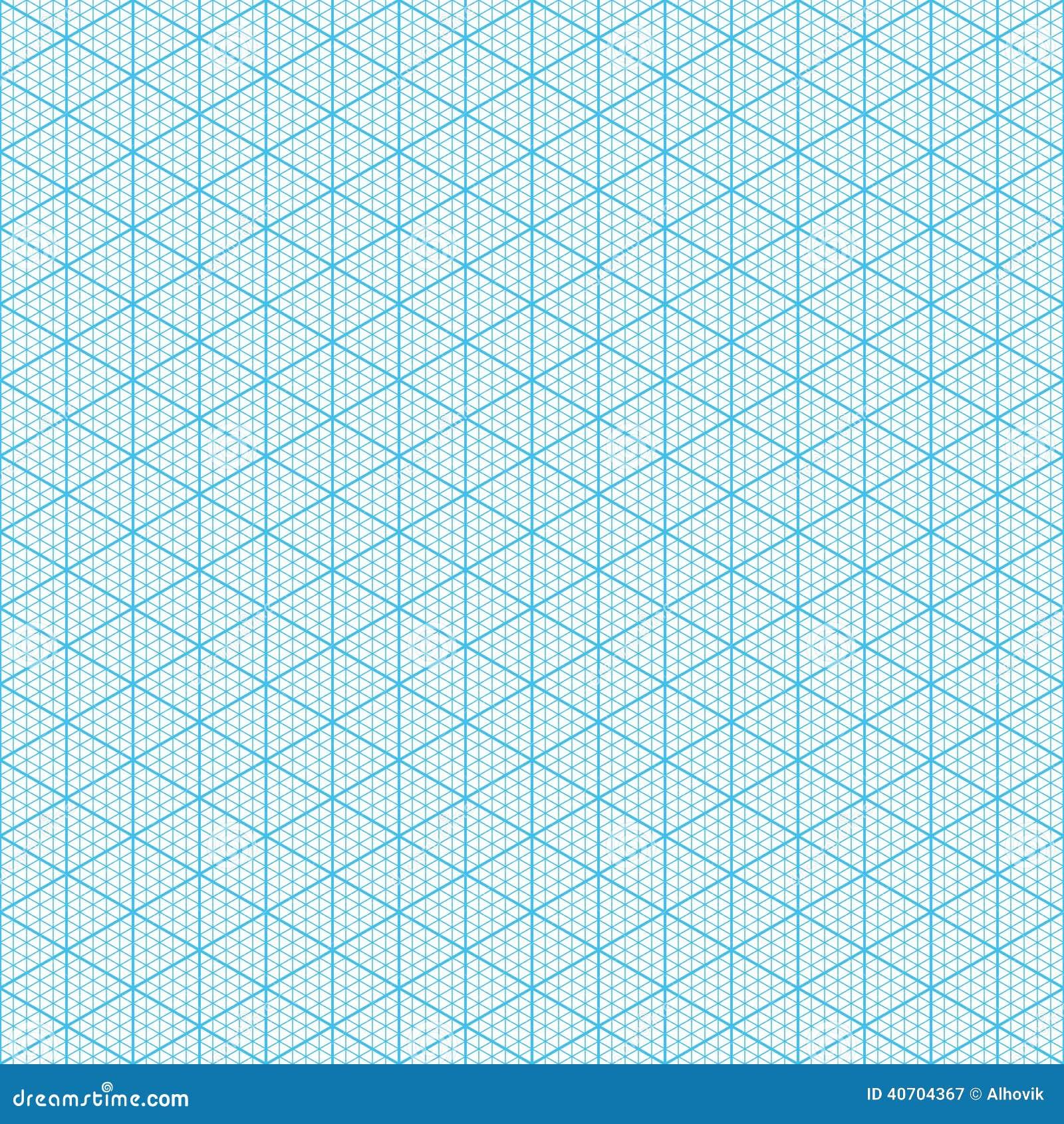Papel de gráfico isométrico