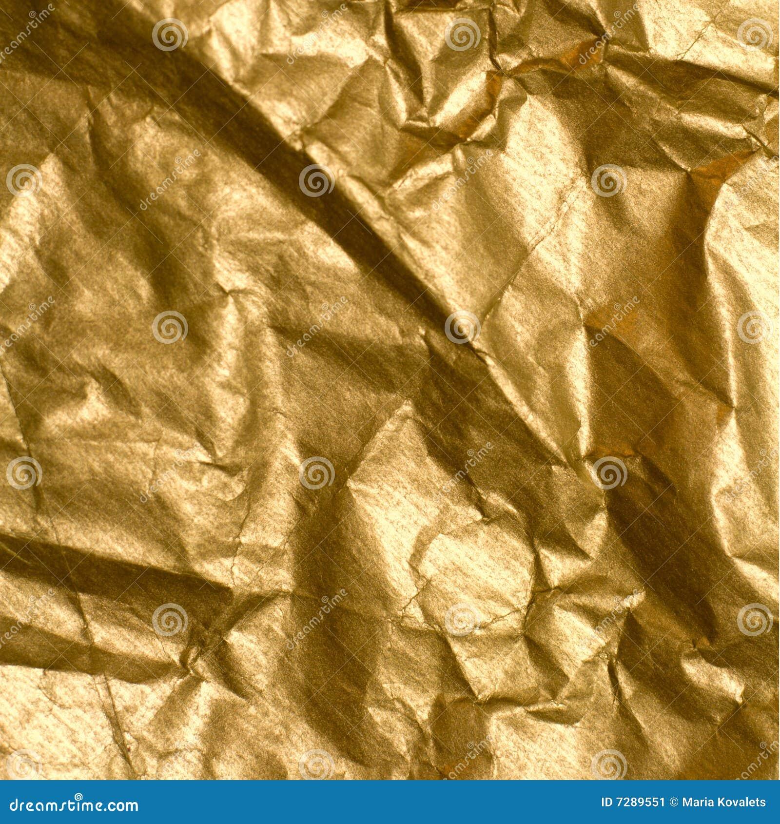 Papel de oro arrugado