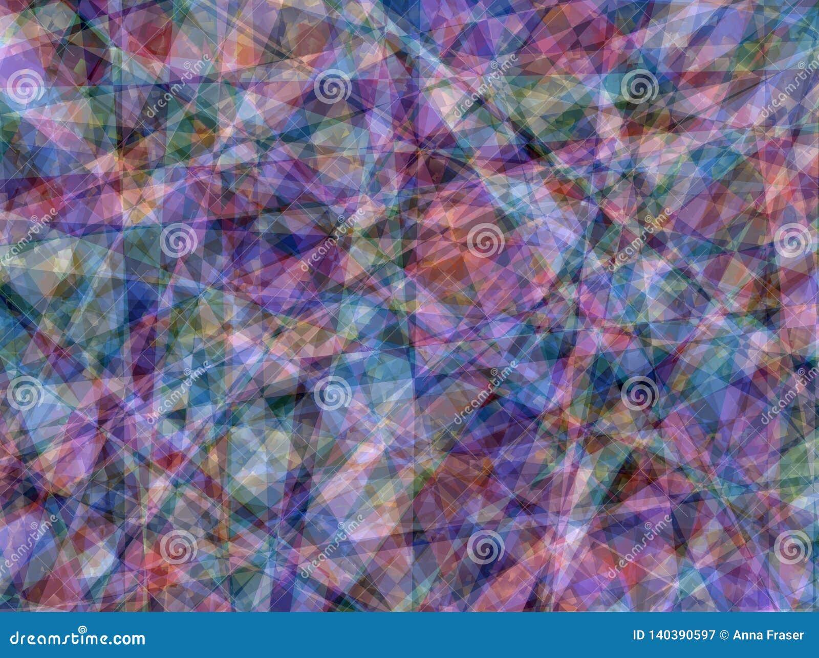 Papel de parede abstrato geométrico da textura do fundo da Multi-cor