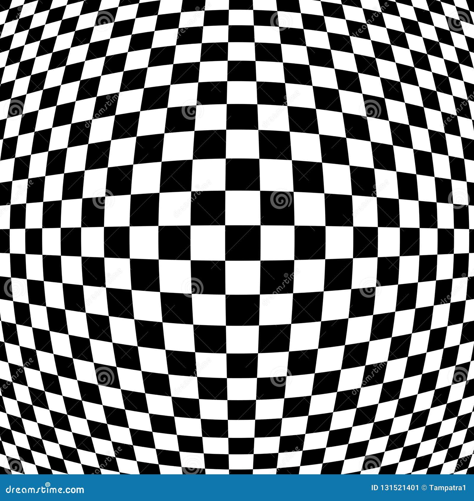 Papel De Parede Abstrato Quadriculado Fundo Preto E Branco Da