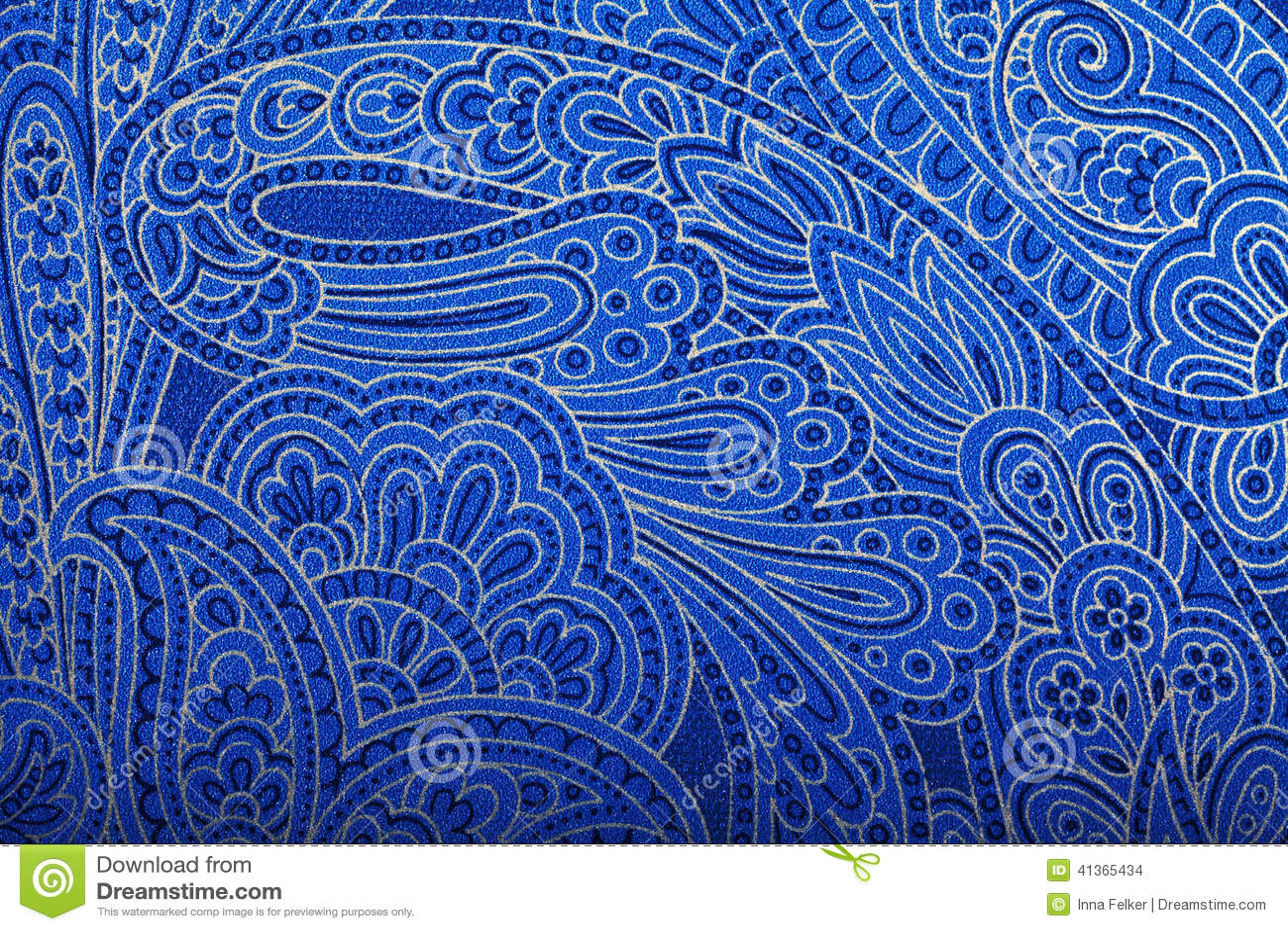 Papel de parede azul de paisley do vintage foto de stock - Papel pared vintage ...