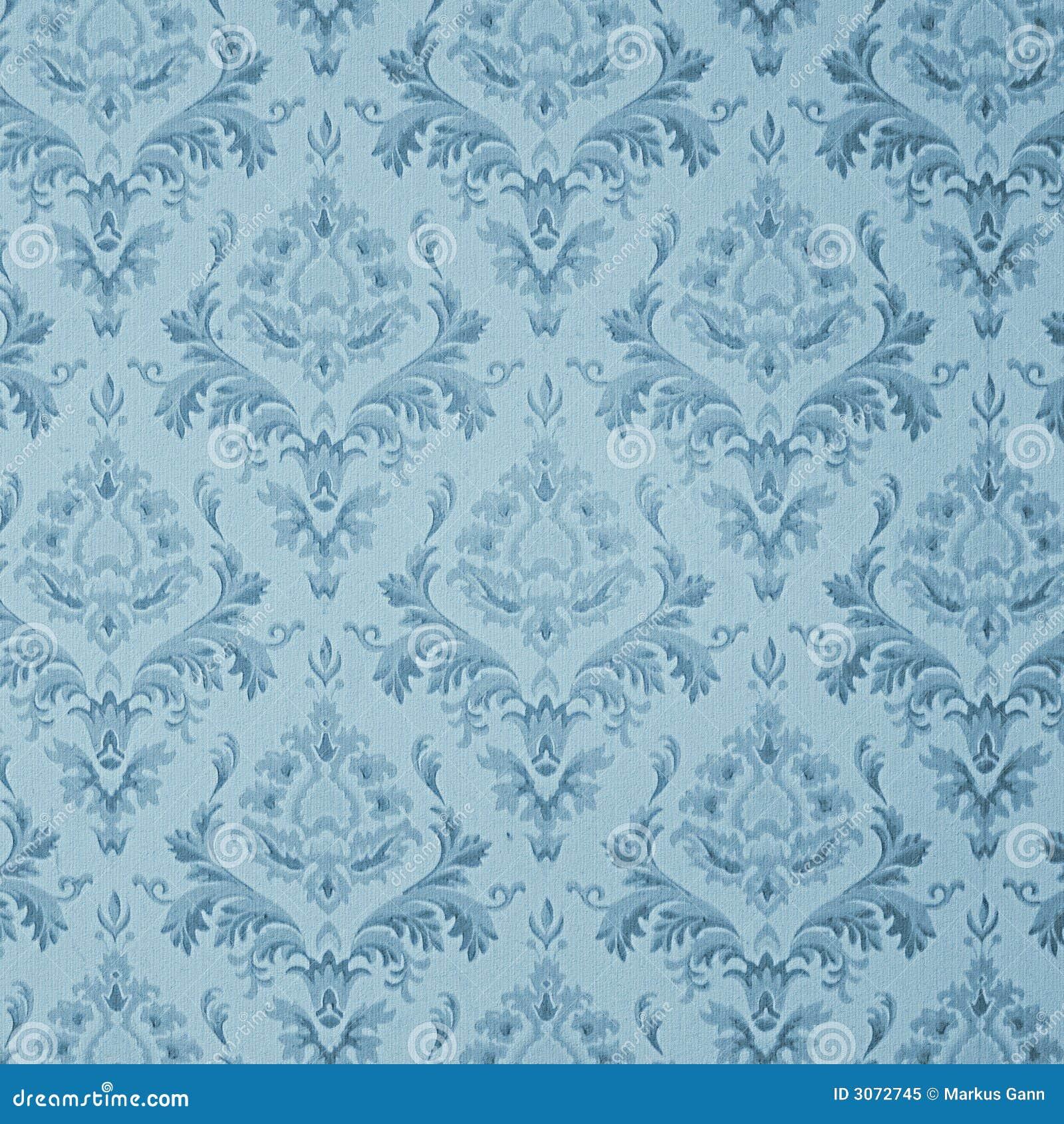 Papel de parede azul do vintage foto de stock royalty free - Papel pared vintage ...