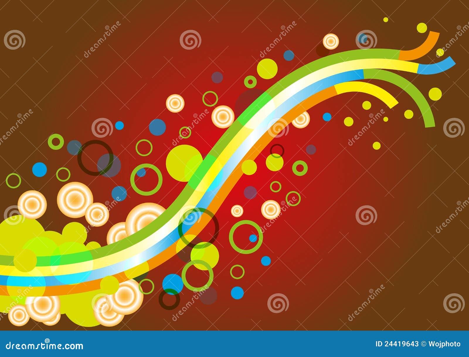 Esporte Tileable Papel De Parede Colorido: Papel De Parede Colorido Abstrato Do Fundo Ilustração