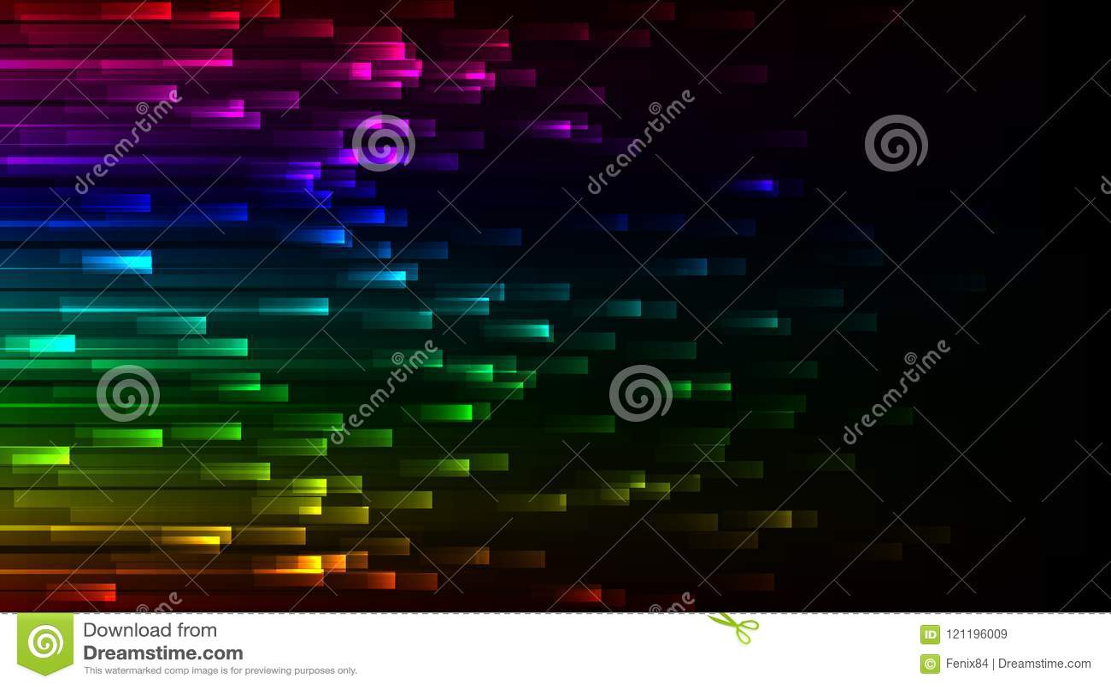 Papel de parede colorido abstrato escuro Fundo de néon do vetor