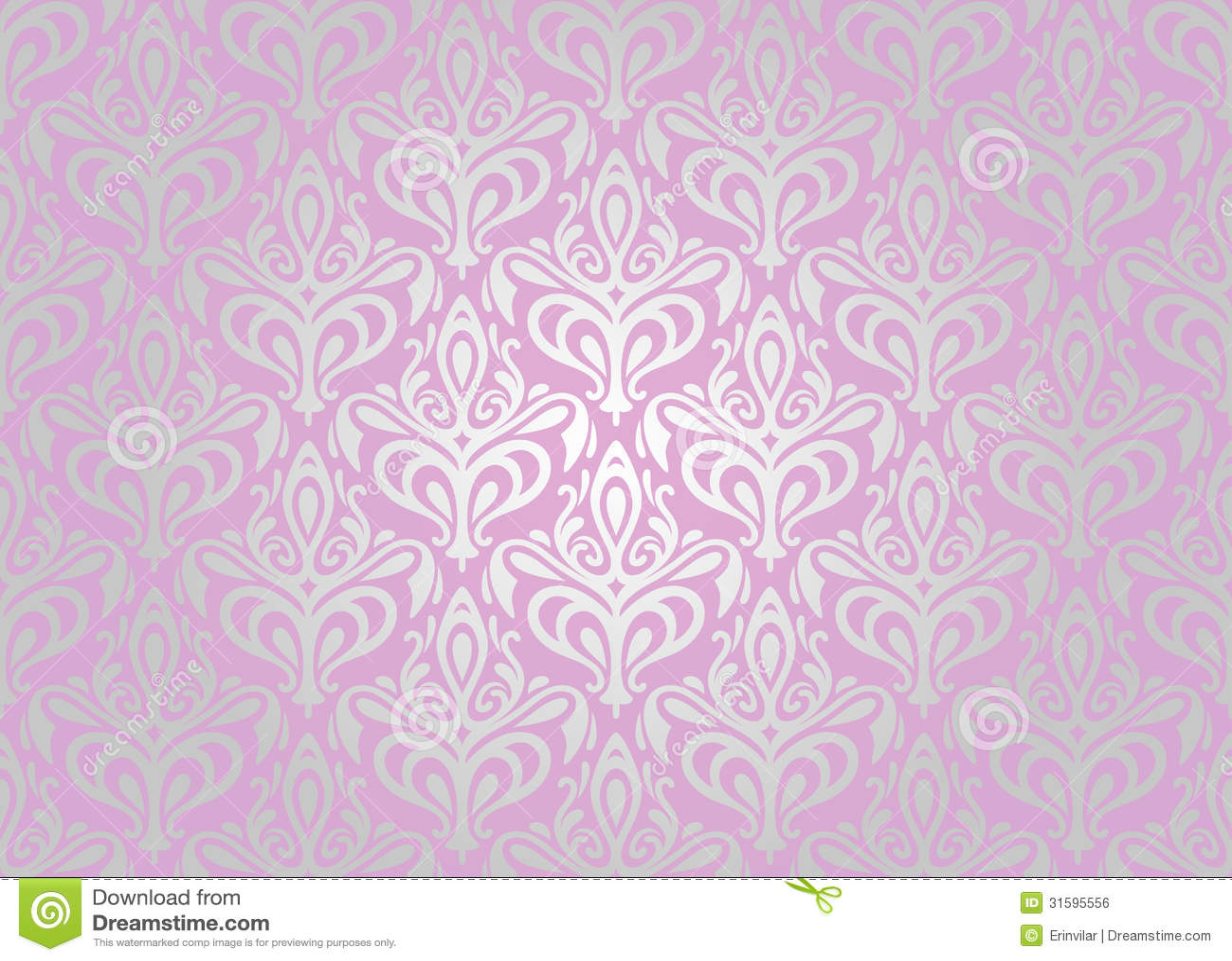 Papel de parede cor de rosa de prata ilustra o do vetor ilustra o de creativo damask - Papel para paredes decorativo ...