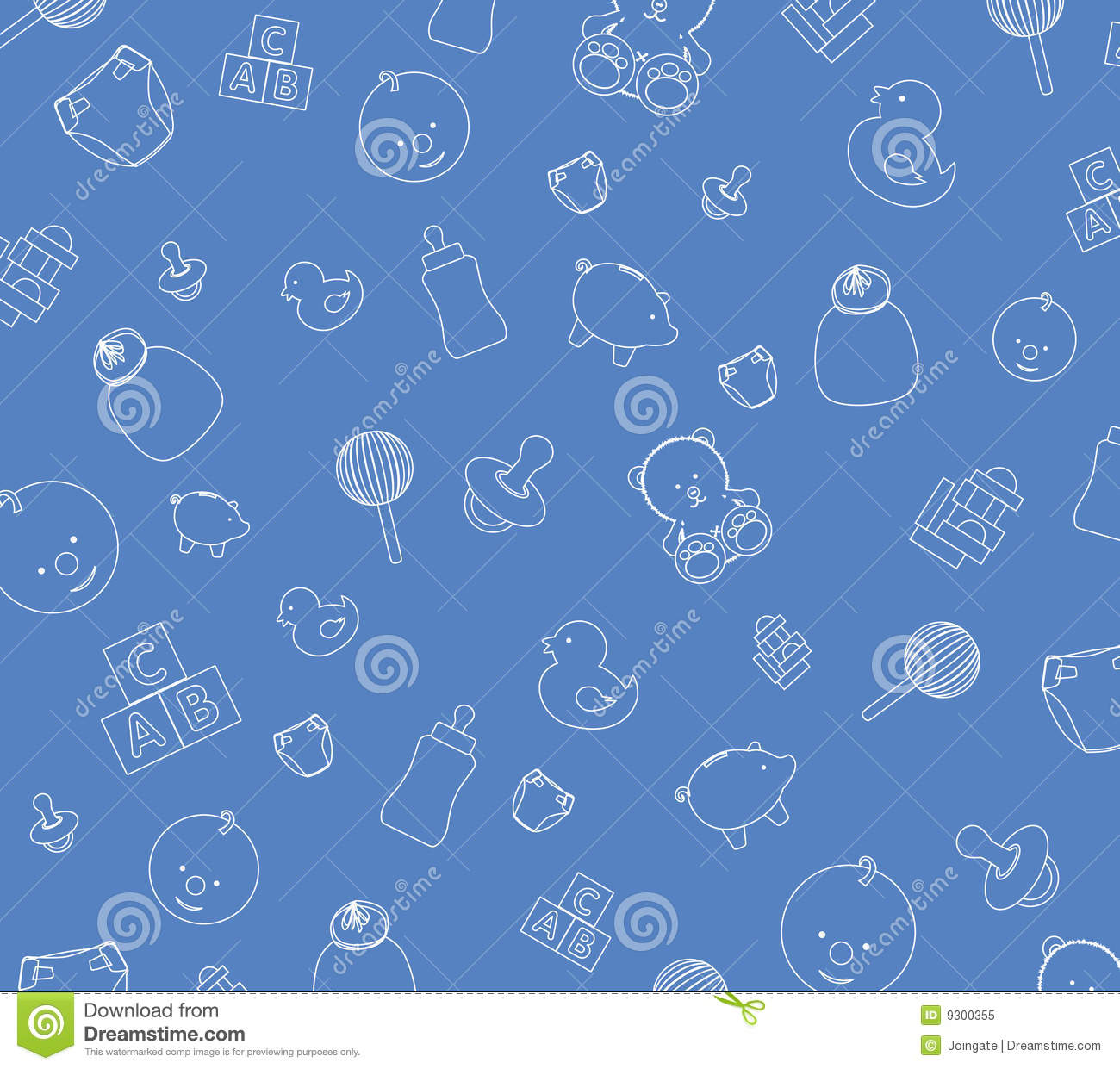 Papel de parede do beb azul foto de stock royalty free - Papel de pared para bebes ...