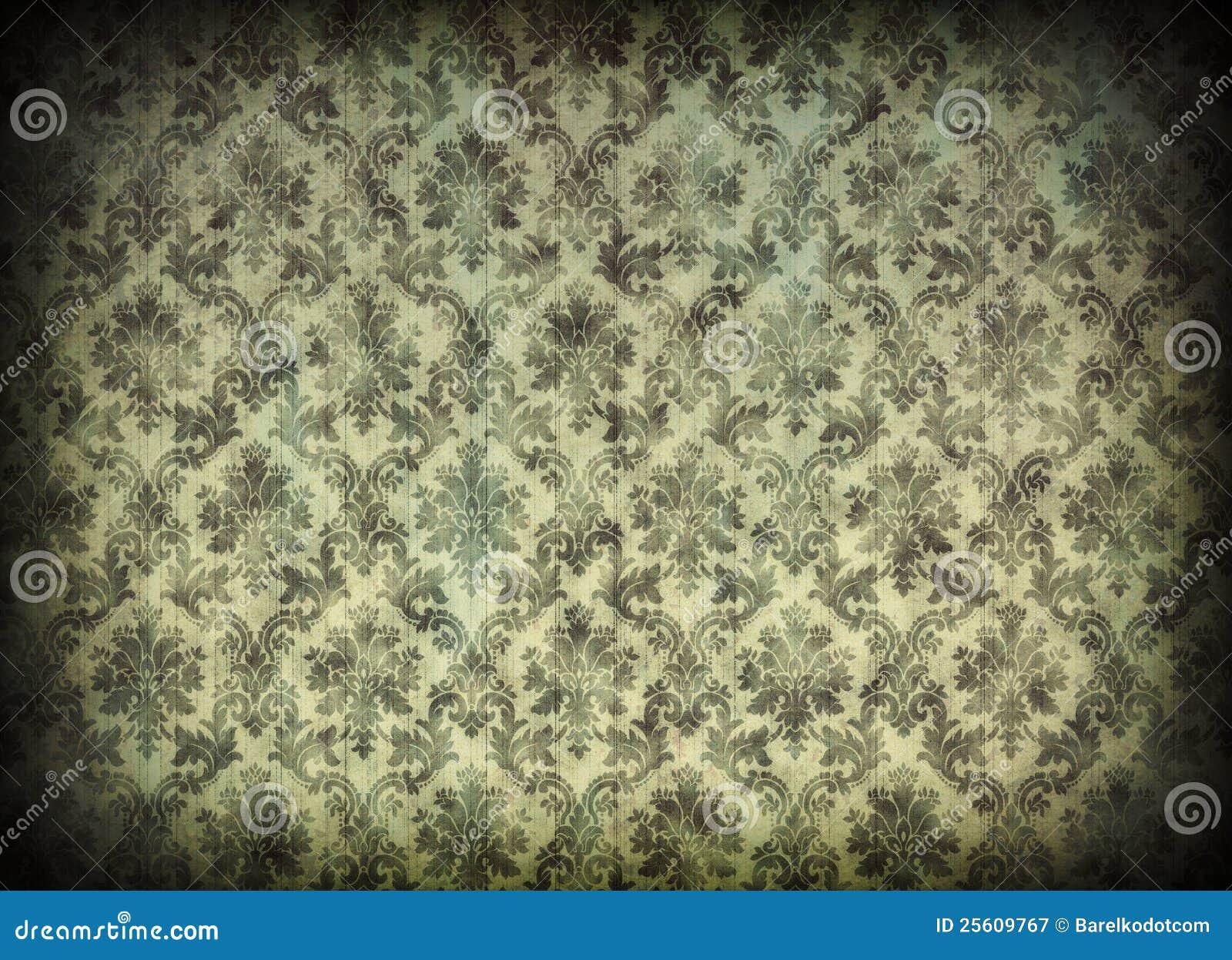 Papel de parede do damasco do vintage