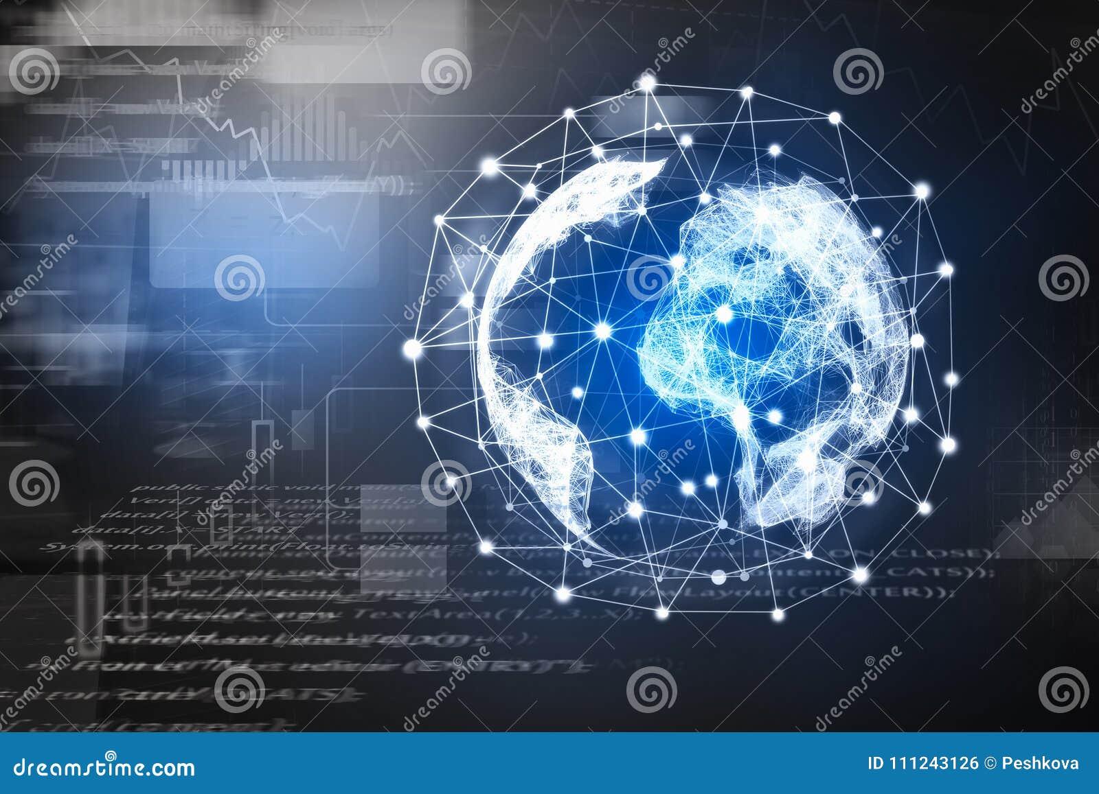 Papel de parede do globo do HTML