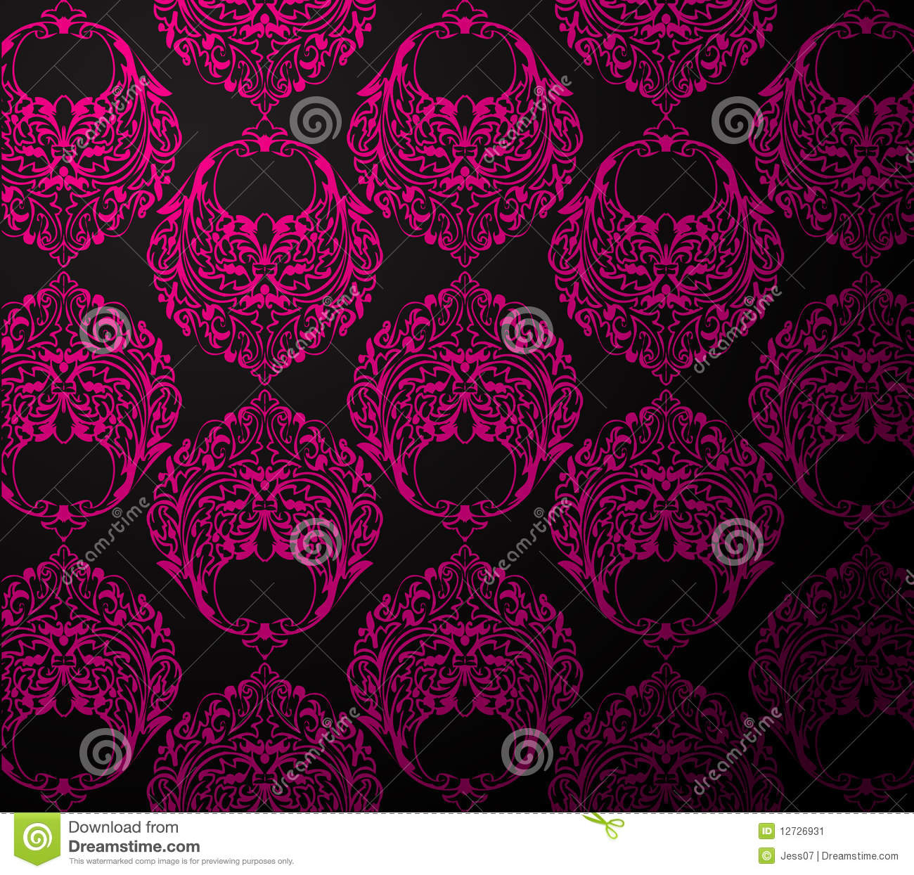 Papel de parede do preto e da cor de rosa ilustra o do for Papel de pared negro