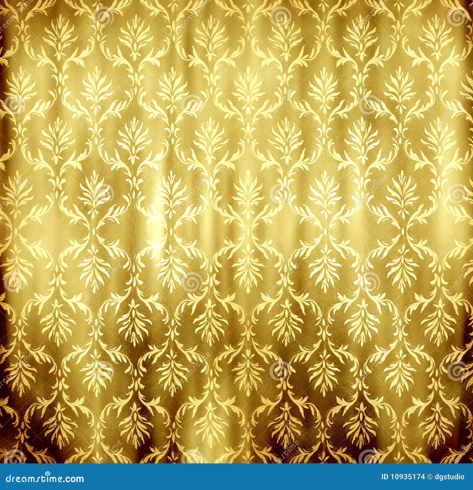 Papel de parede dourado imagens de stock imagem 10935174 - Papel de pared retro ...