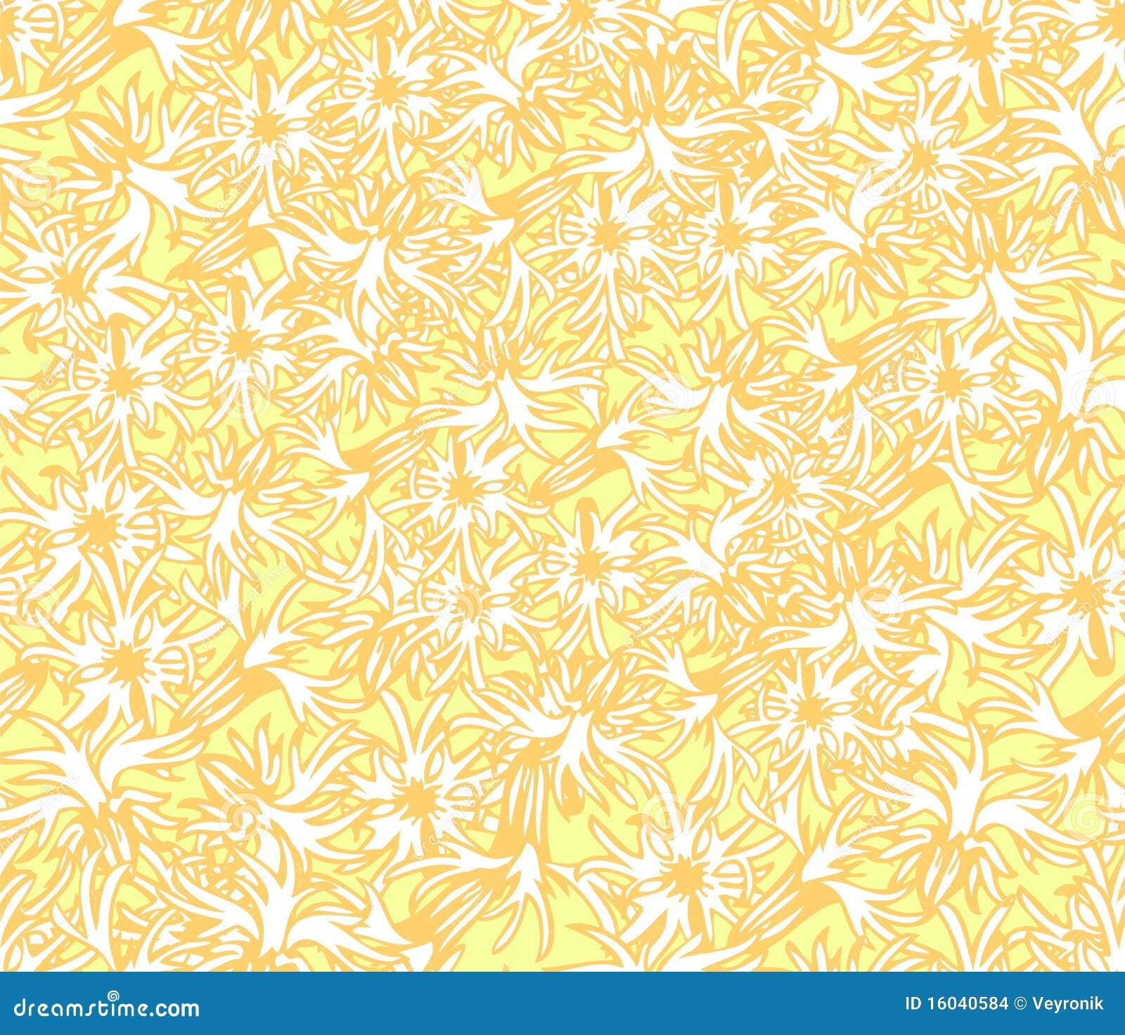 Papel De Parede Floral Amarelo Imagens Stock Imagem