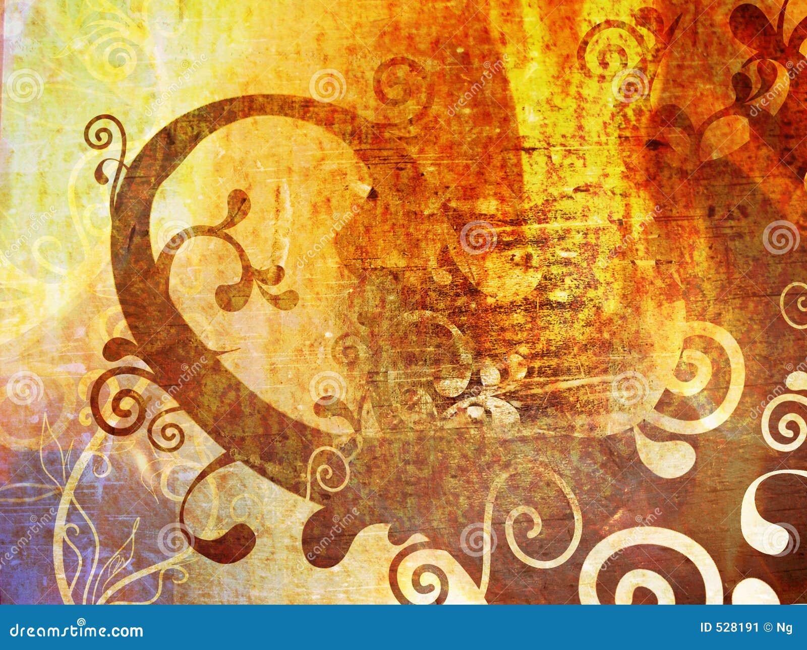 Papel de parede floral do grunge