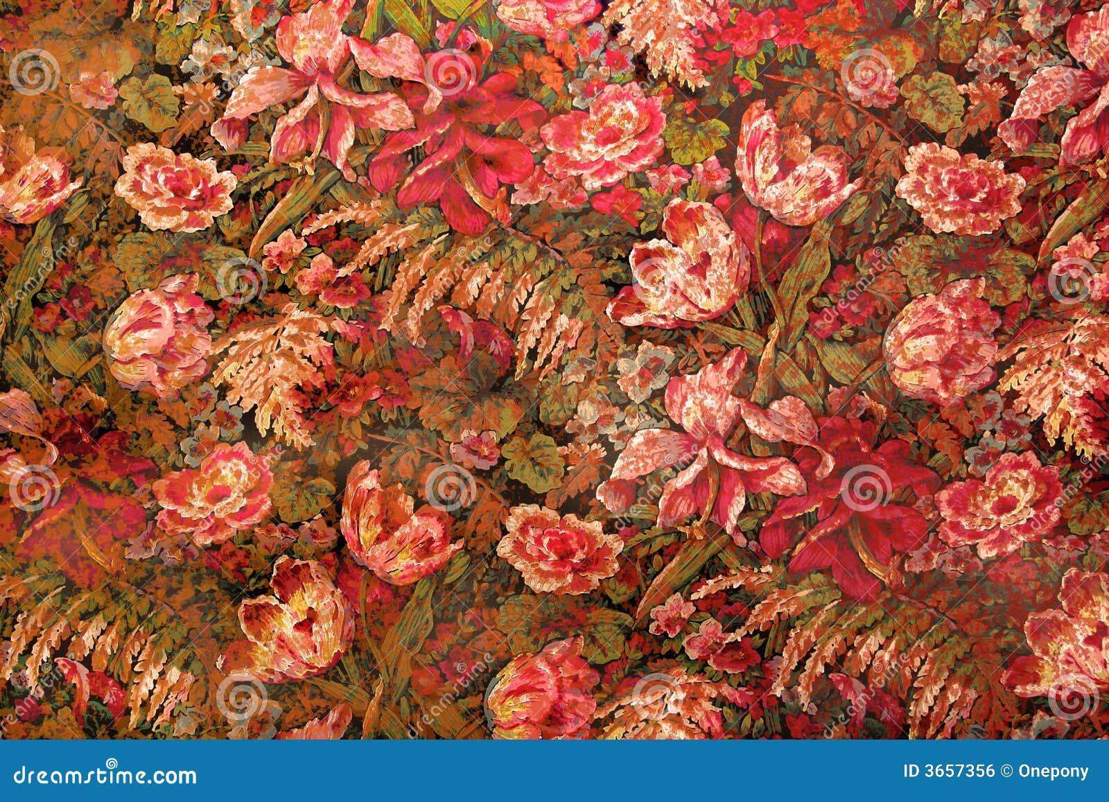 Papel de parede floral sujo 1