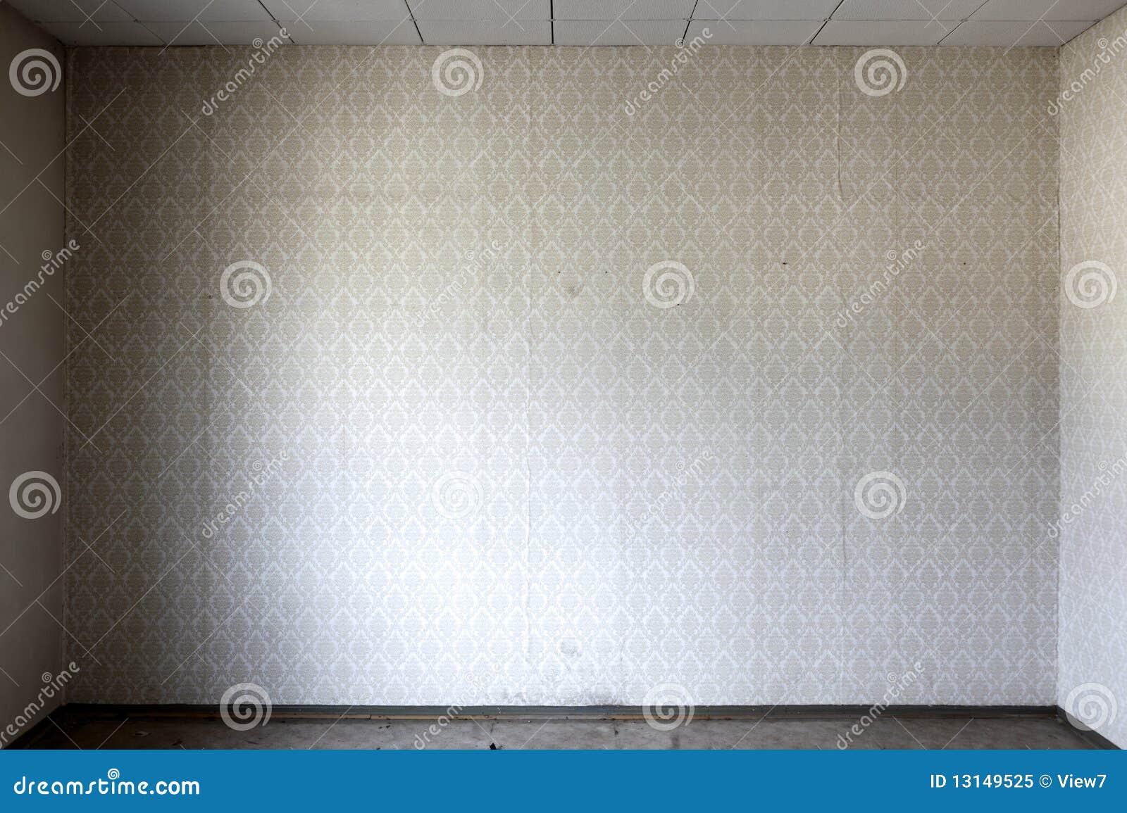 Papel De Parede No Quarto Desencapado Foto de Stock