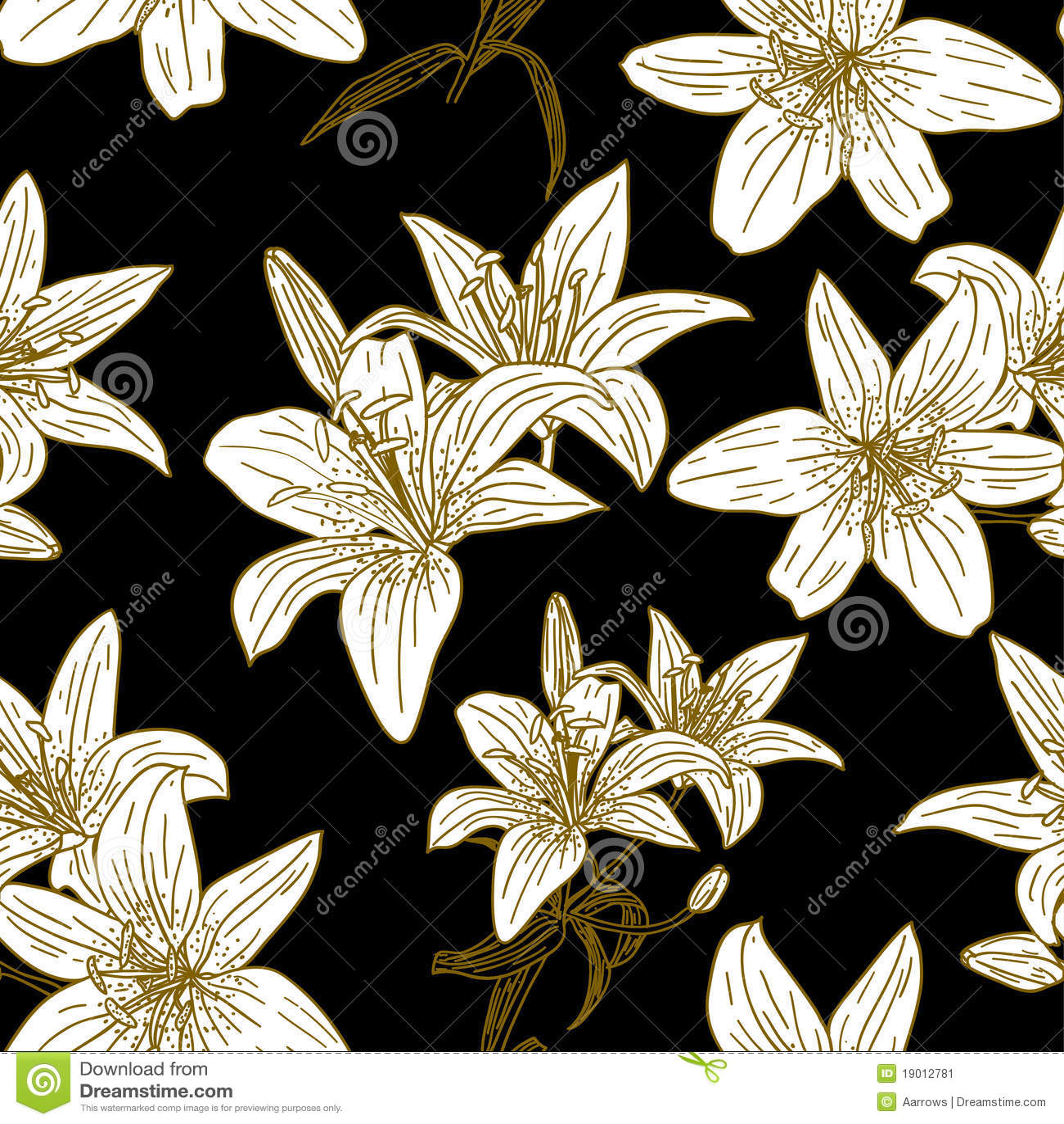 Papel De Parede Sem Emenda Com Flores Bonitas Ilustração Do