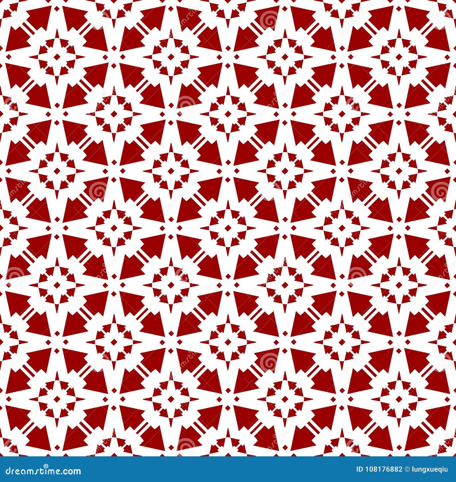 Papel de parede sem emenda geométrico floral chinês árabe da textura do teste padrão do vintage real vermelho oriental decorativo