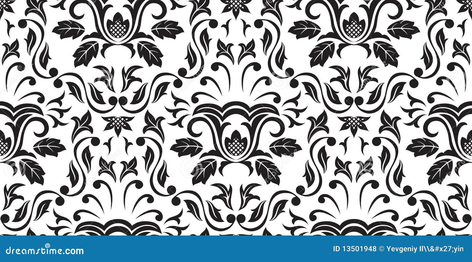 Papel de parede sem emenda preto fotos de stock royalty - Papel decorativos para paredes ...