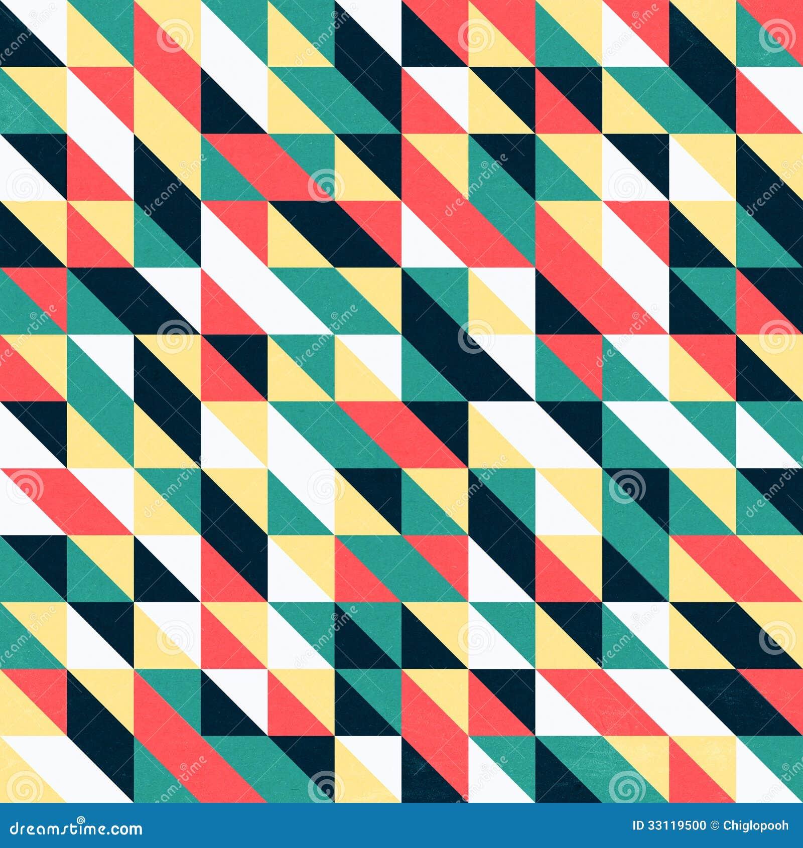 Papel de parede triangular retro foto de stock imagem - Papel de pared retro ...
