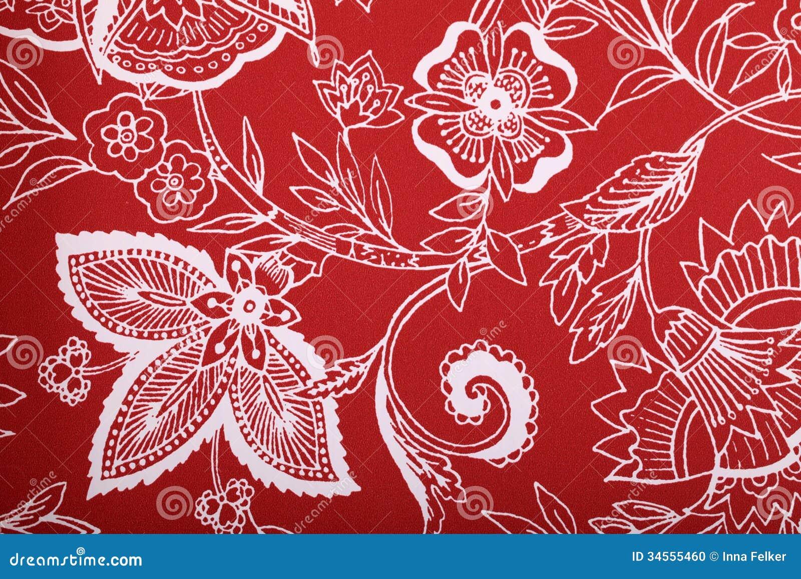 Papel de parede vermelho do vintage foto de stock imagem - Papel de pared retro ...