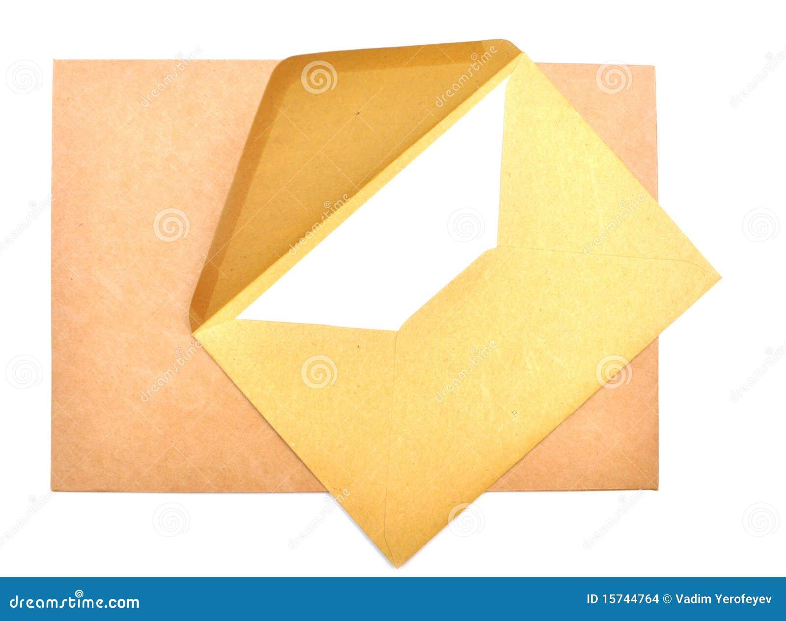 Papel e envelope de letra