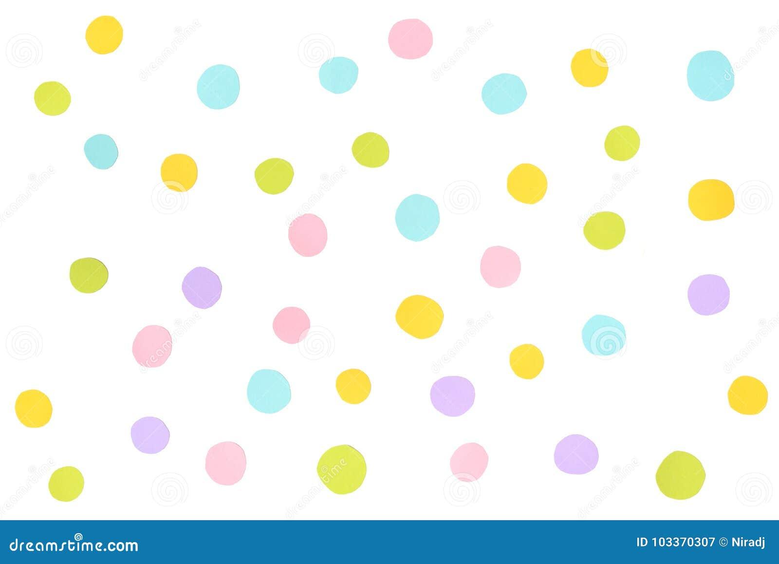 Papel En Colores Pastel De Los Puntos Cortado En El Fondo