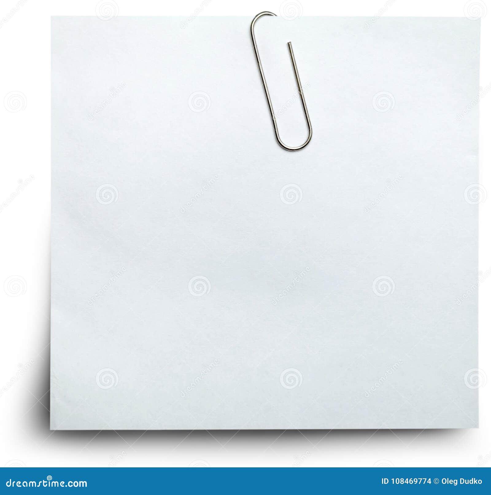 Papel guardado com clipe de papel