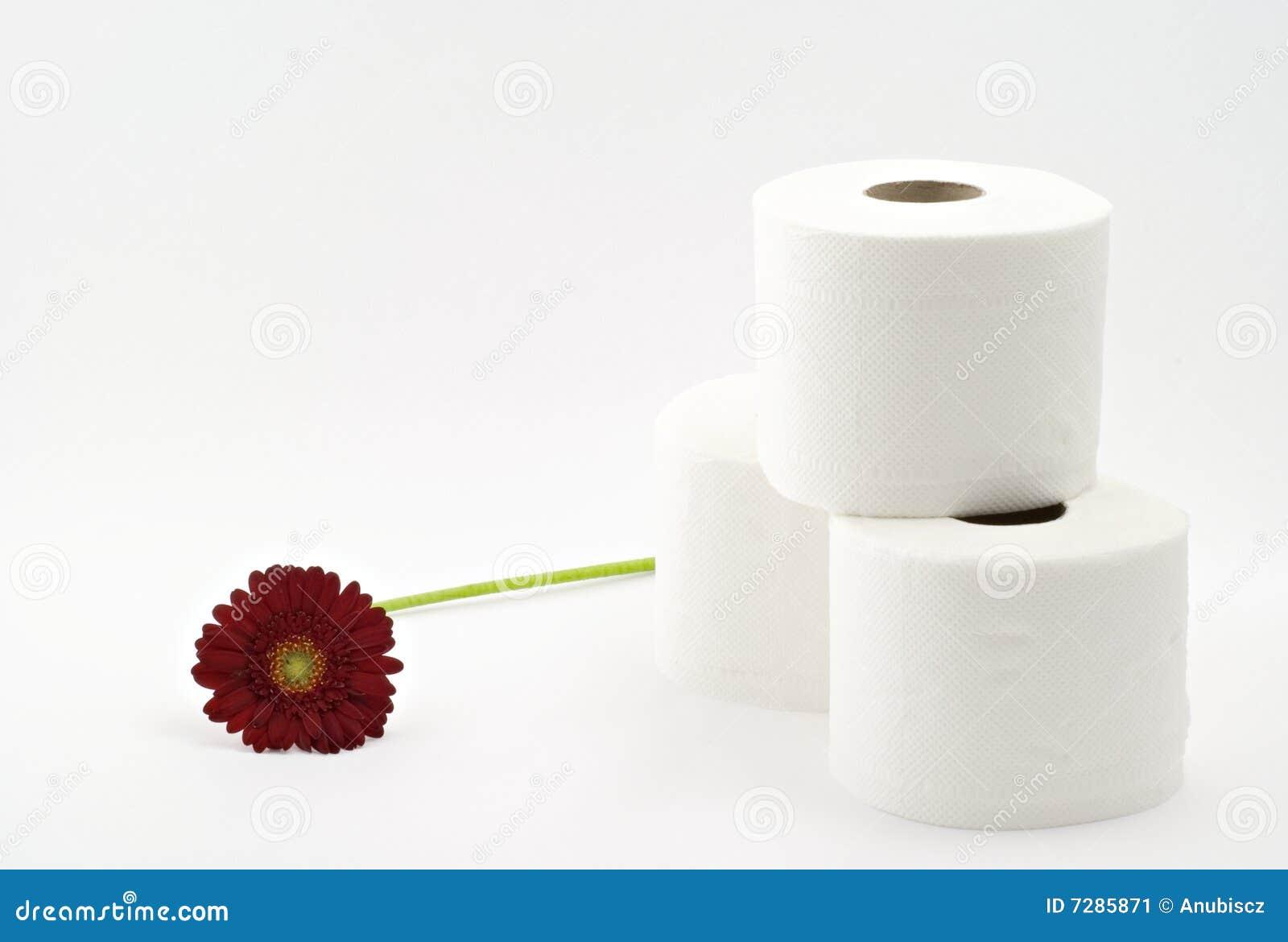 Papel higiénico con la flor
