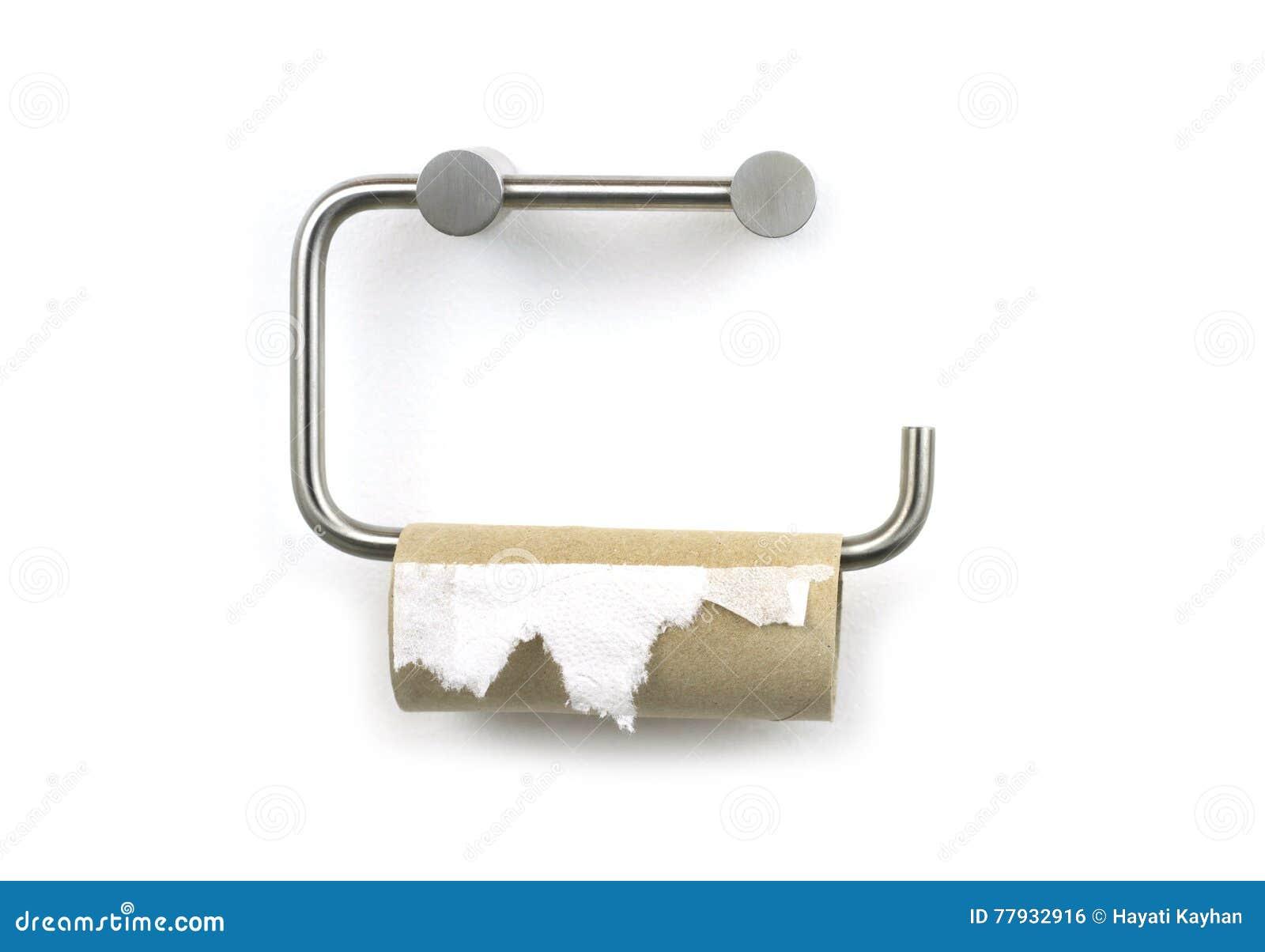 Papel higiênico terminado