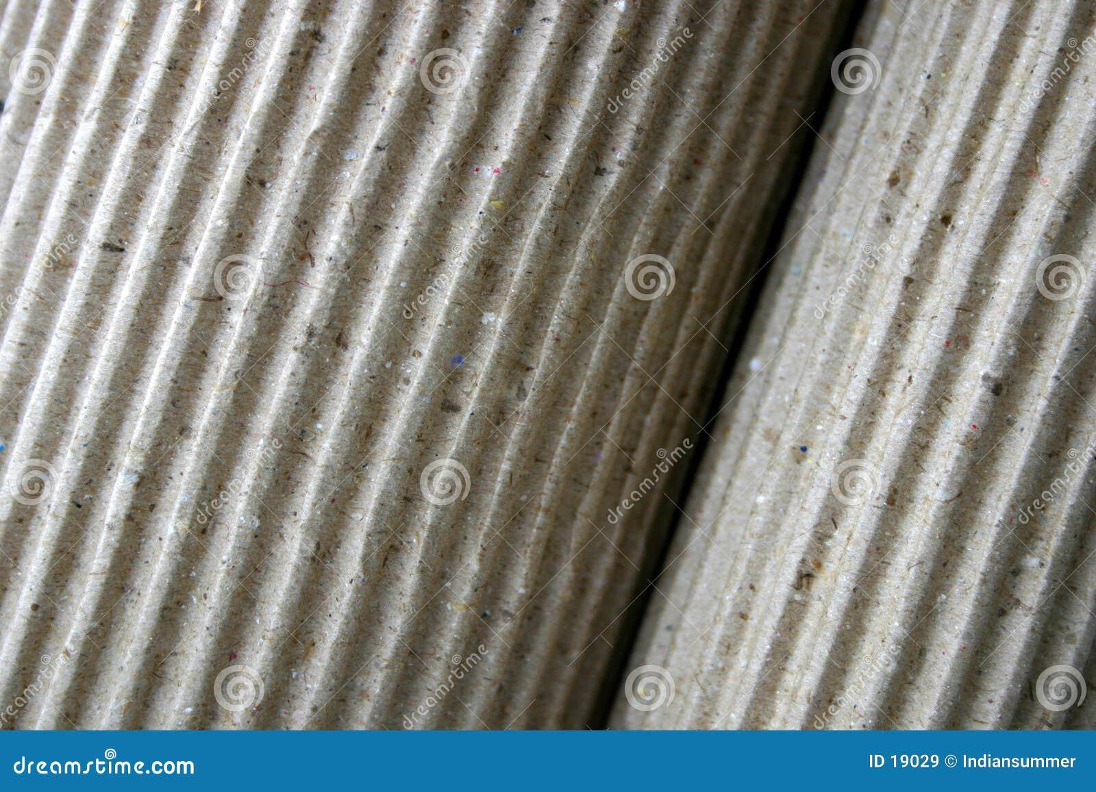 Papel ondulado, rolled-up, close-up