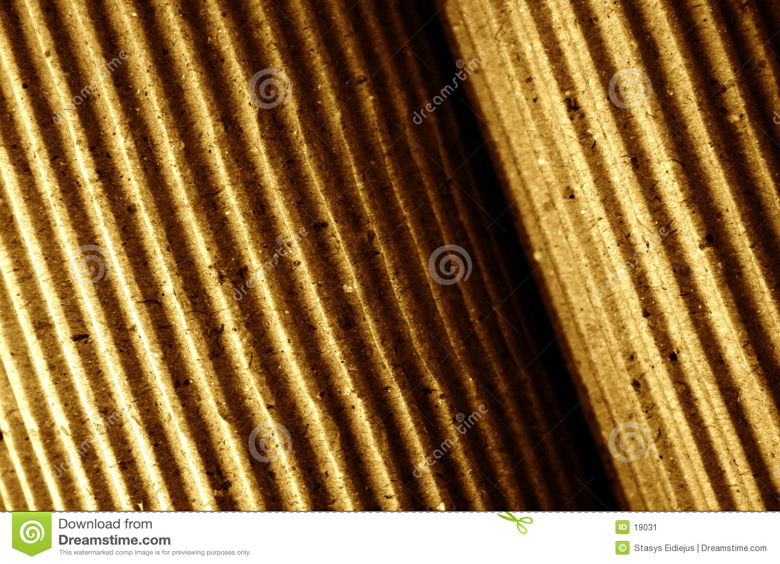 Papel ondulado, rolled-up, close-up, tonificado